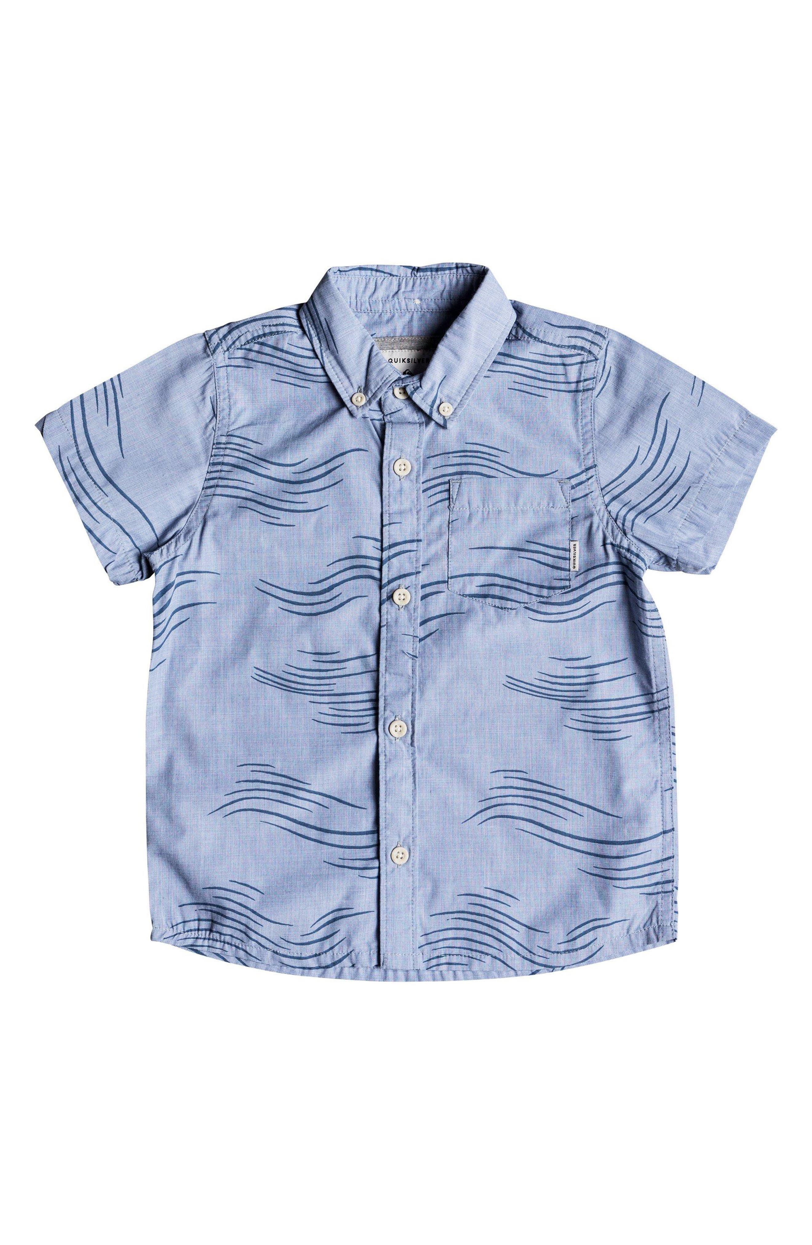Valley Groove Woven Shirt,                         Main,                         color, Bijou Blue