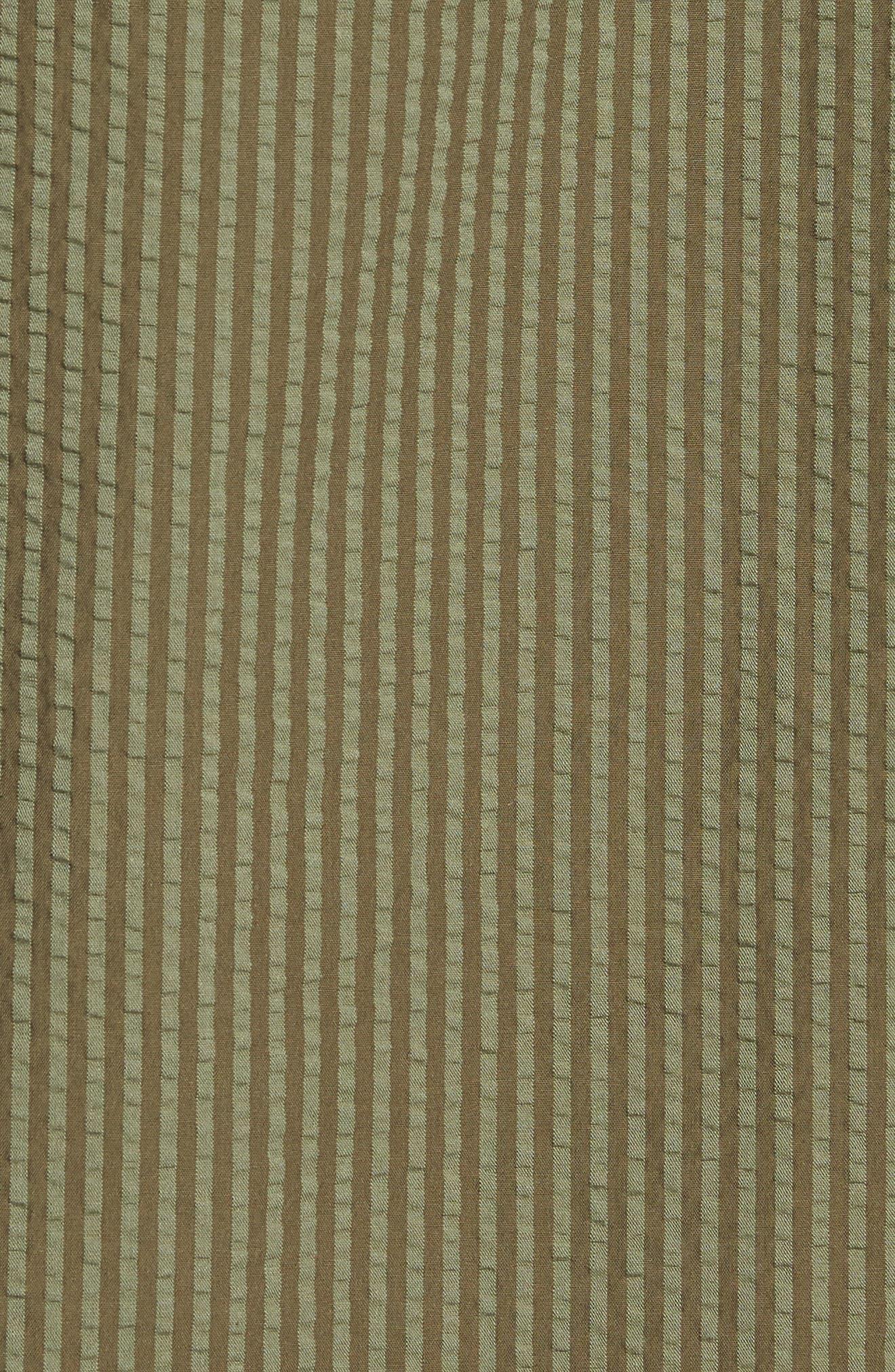 Slim Fit Stripe Seersucker Sport Shirt,                             Alternate thumbnail 4, color,                             Surplus Wx2234