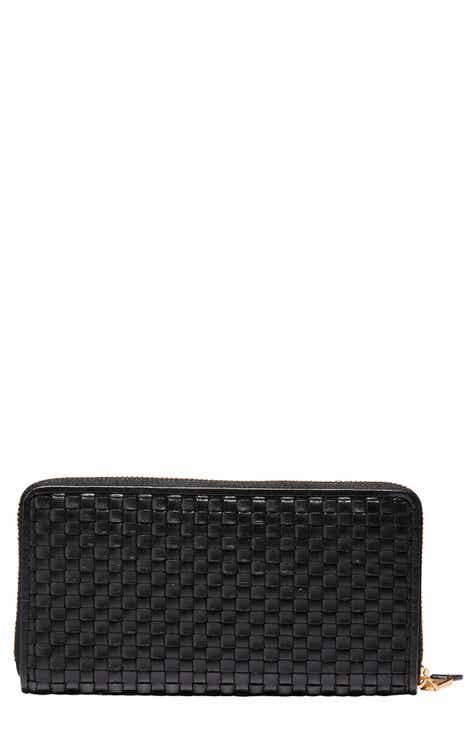Cole Haan Zoe Woven RFID Leather Continental Zip Wallet