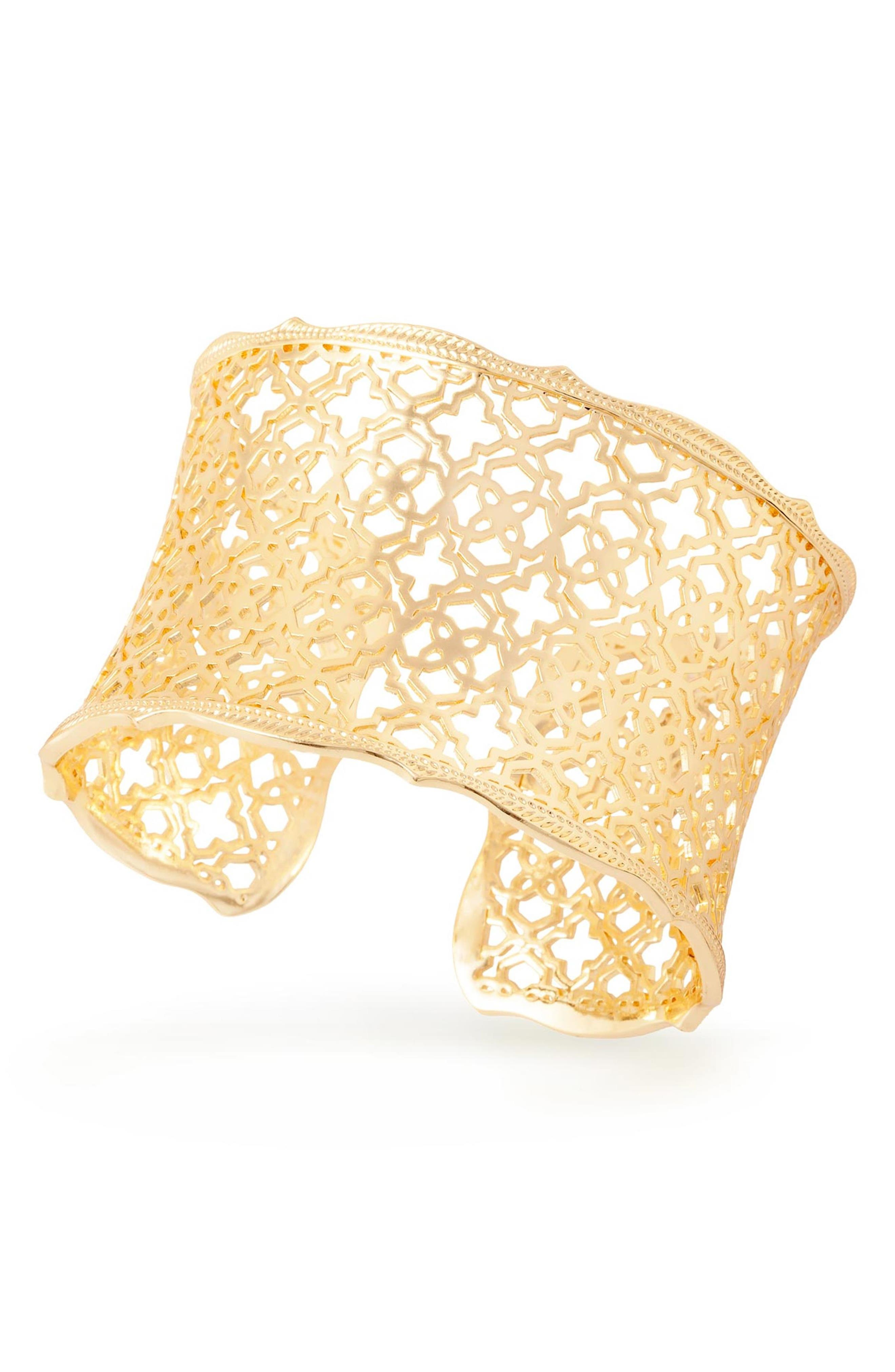 'Mystic Bazaar - Candice' Wide Cuff,                             Alternate thumbnail 2, color,                             Gold