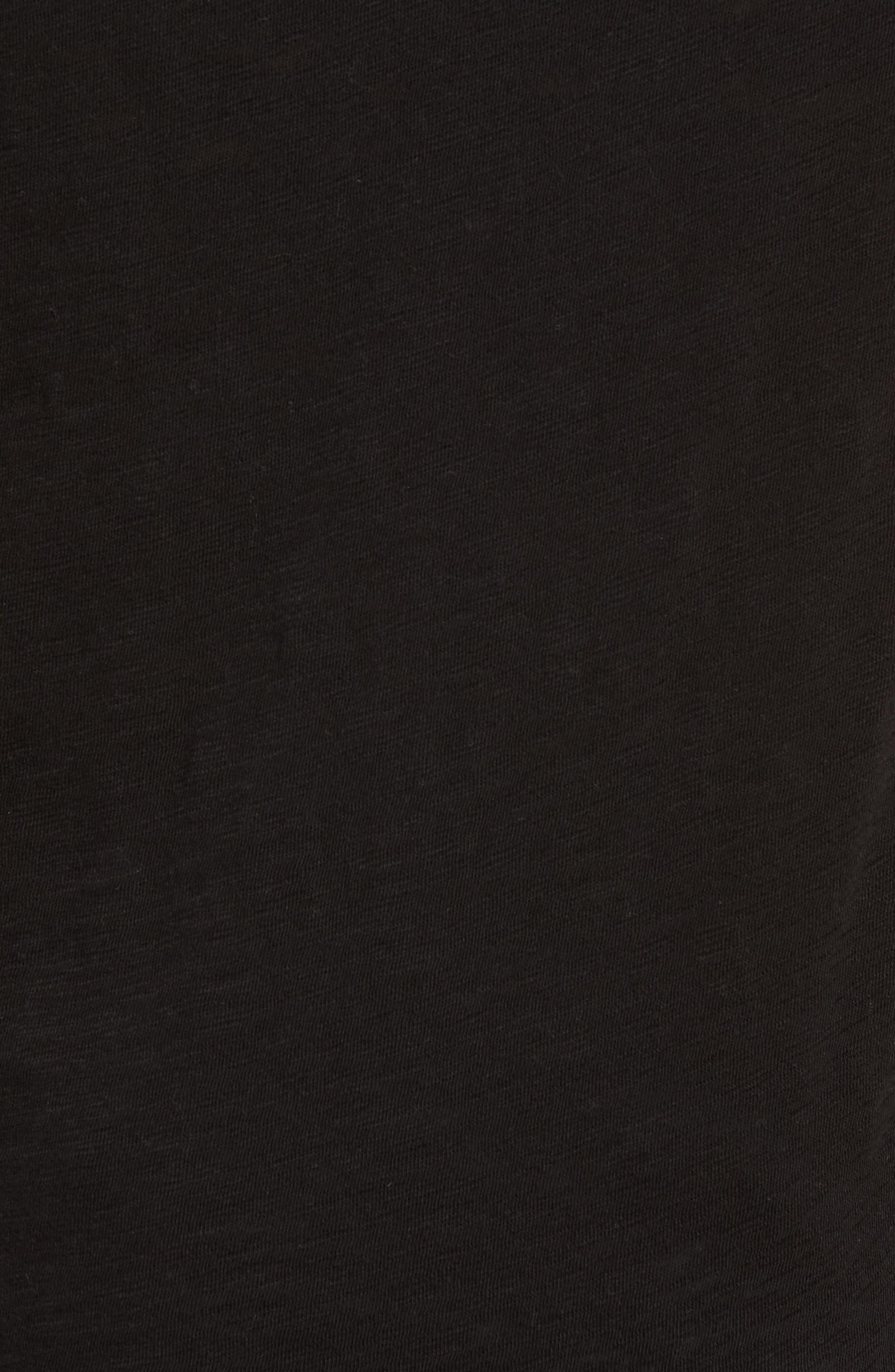 Slub Jersey Baseball T-Shirt,                             Alternate thumbnail 3, color,                             Black/ Heather Grey Combo