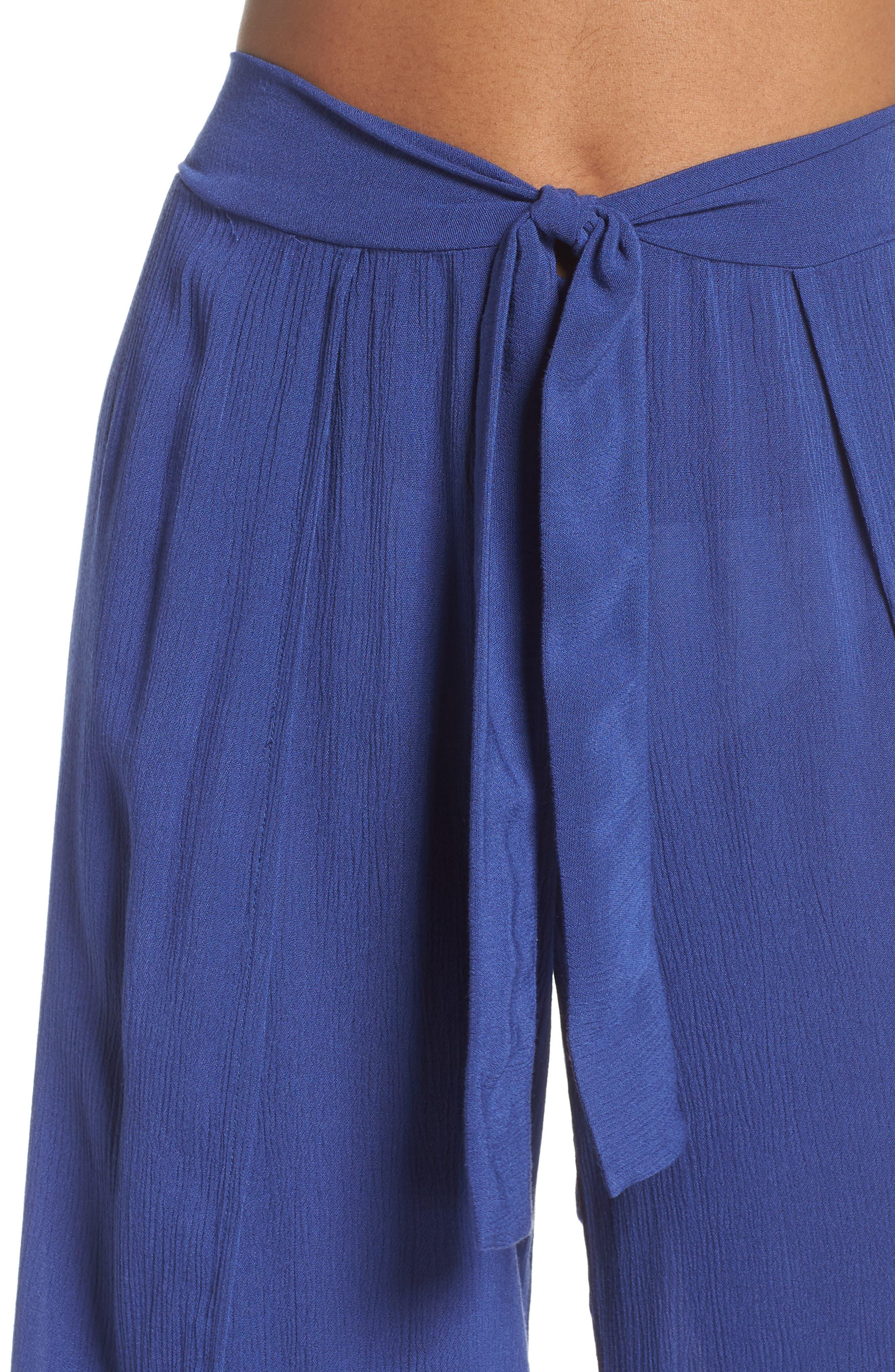 Modern Muse Cover-Up Flyaway Pants,                             Alternate thumbnail 3, color,                             Blue Topaz