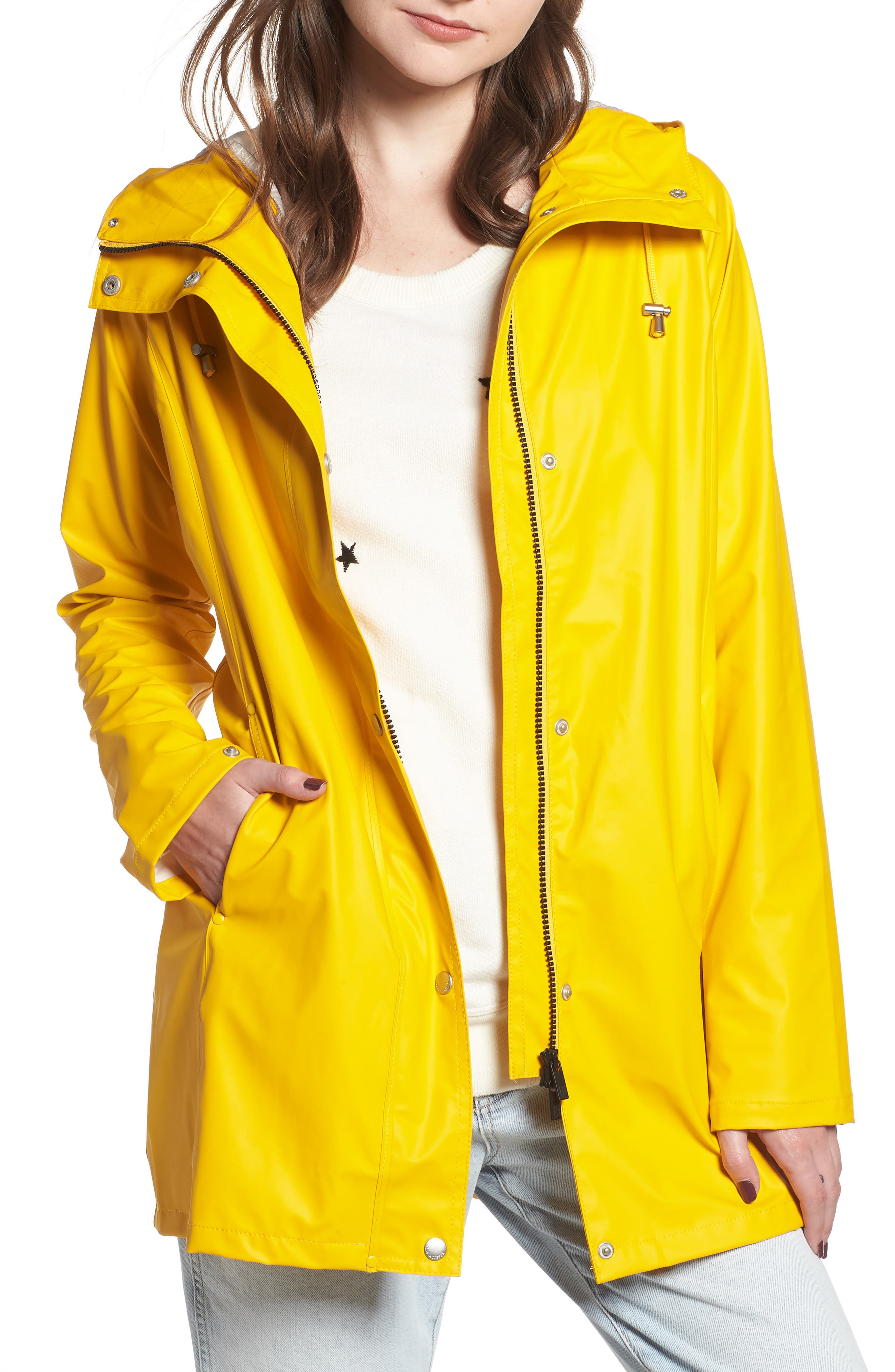 Illse Jacobsen Hornbaek Raincoat,                             Main thumbnail 1, color,                             Cyber Yellow