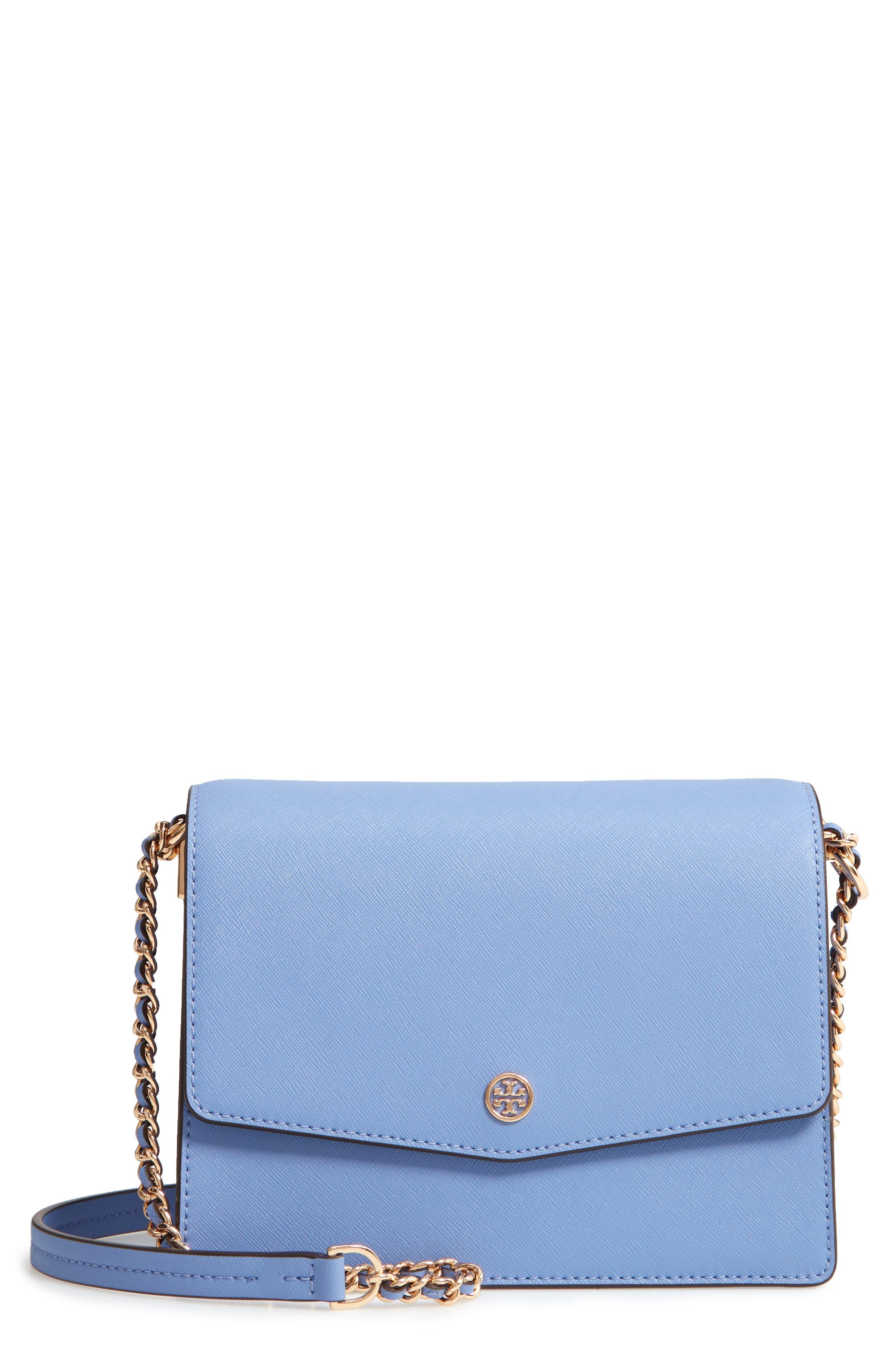 Robinson Convertible Leather Shoulder Bag,                         Main,                         color, Bow Blue