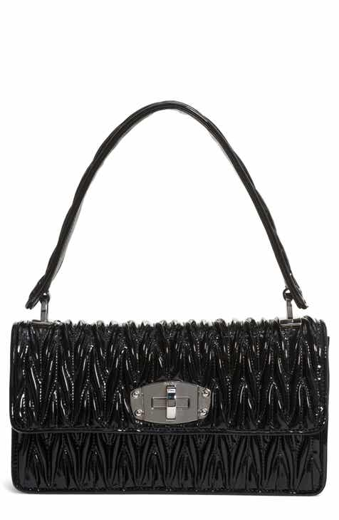 Miu Vernice Matelassé Quilted Leather Shoulder Bag