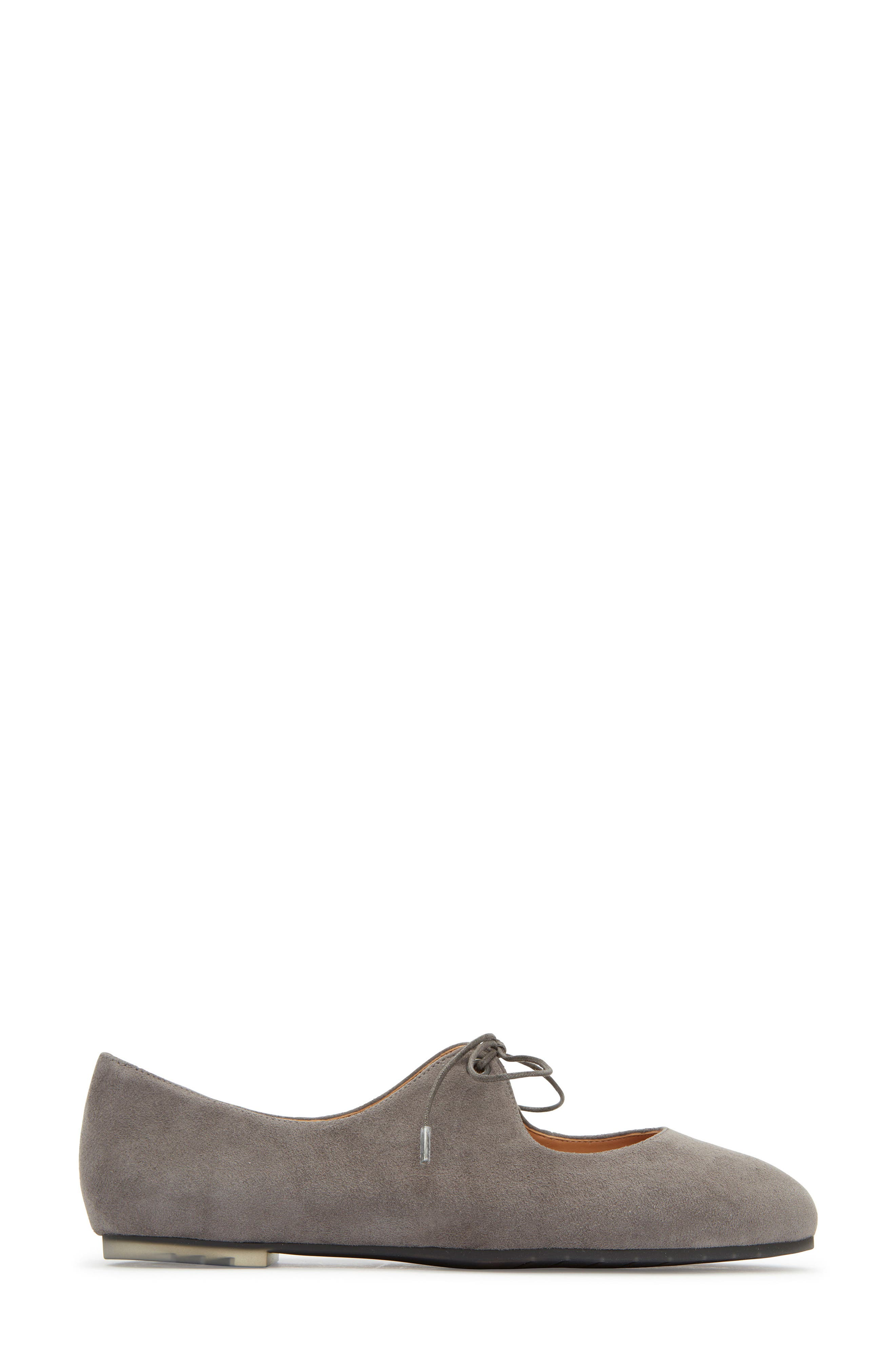 Cacey Mary Jane Flat,                             Alternate thumbnail 3, color,                             Charcoal Suede