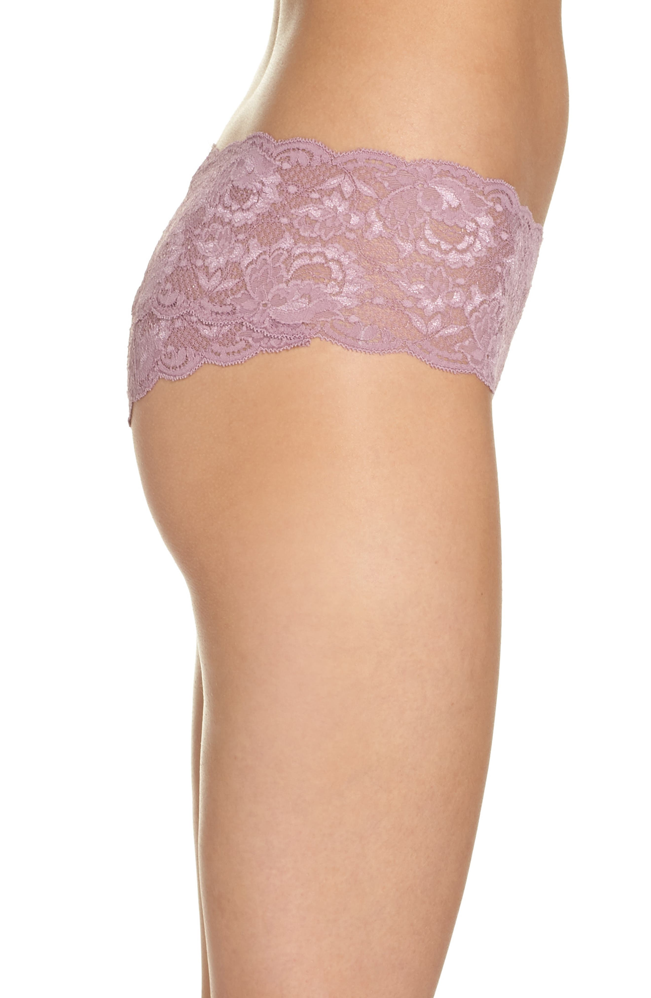 'Never Say Never' Hipster Briefs,                             Alternate thumbnail 4, color,                             Grape