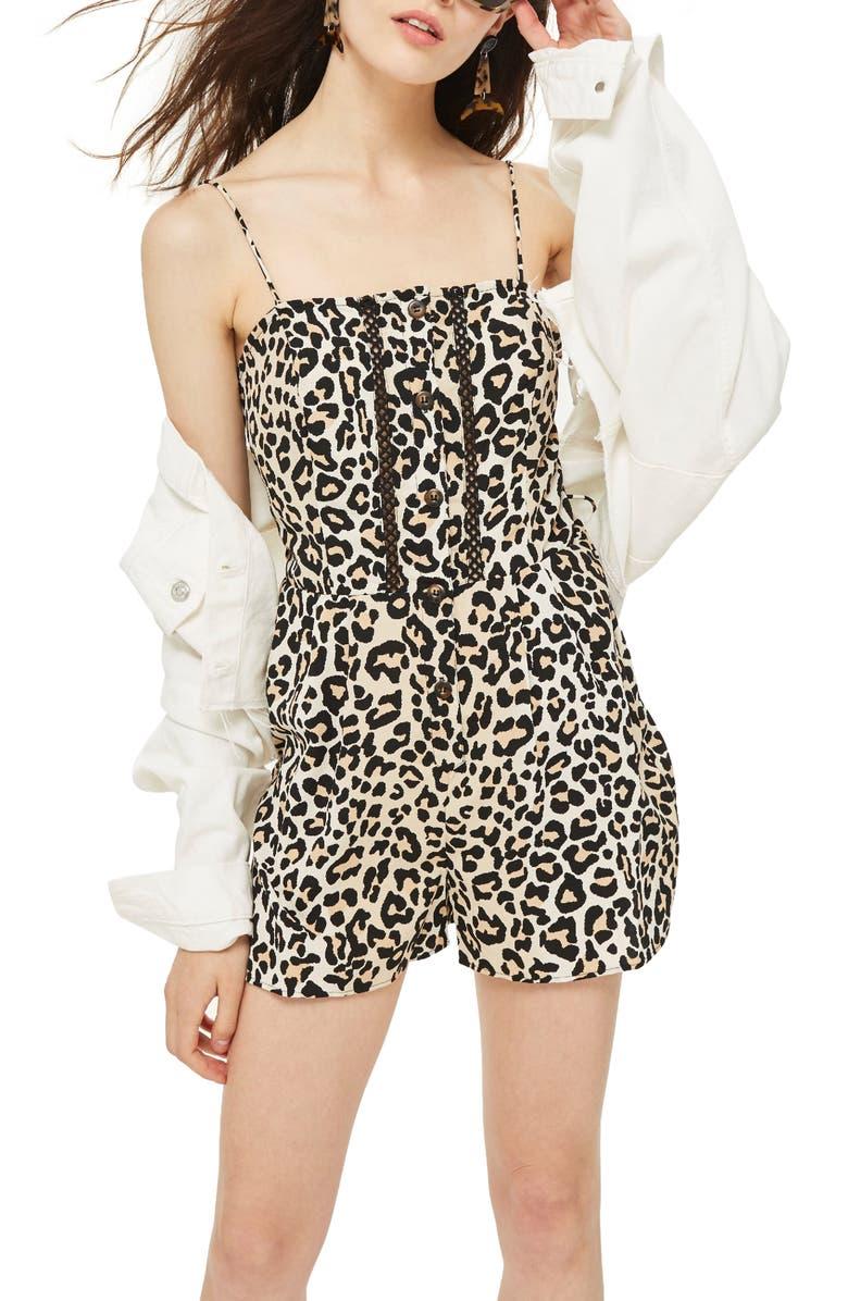 Leopard Crochet Romper