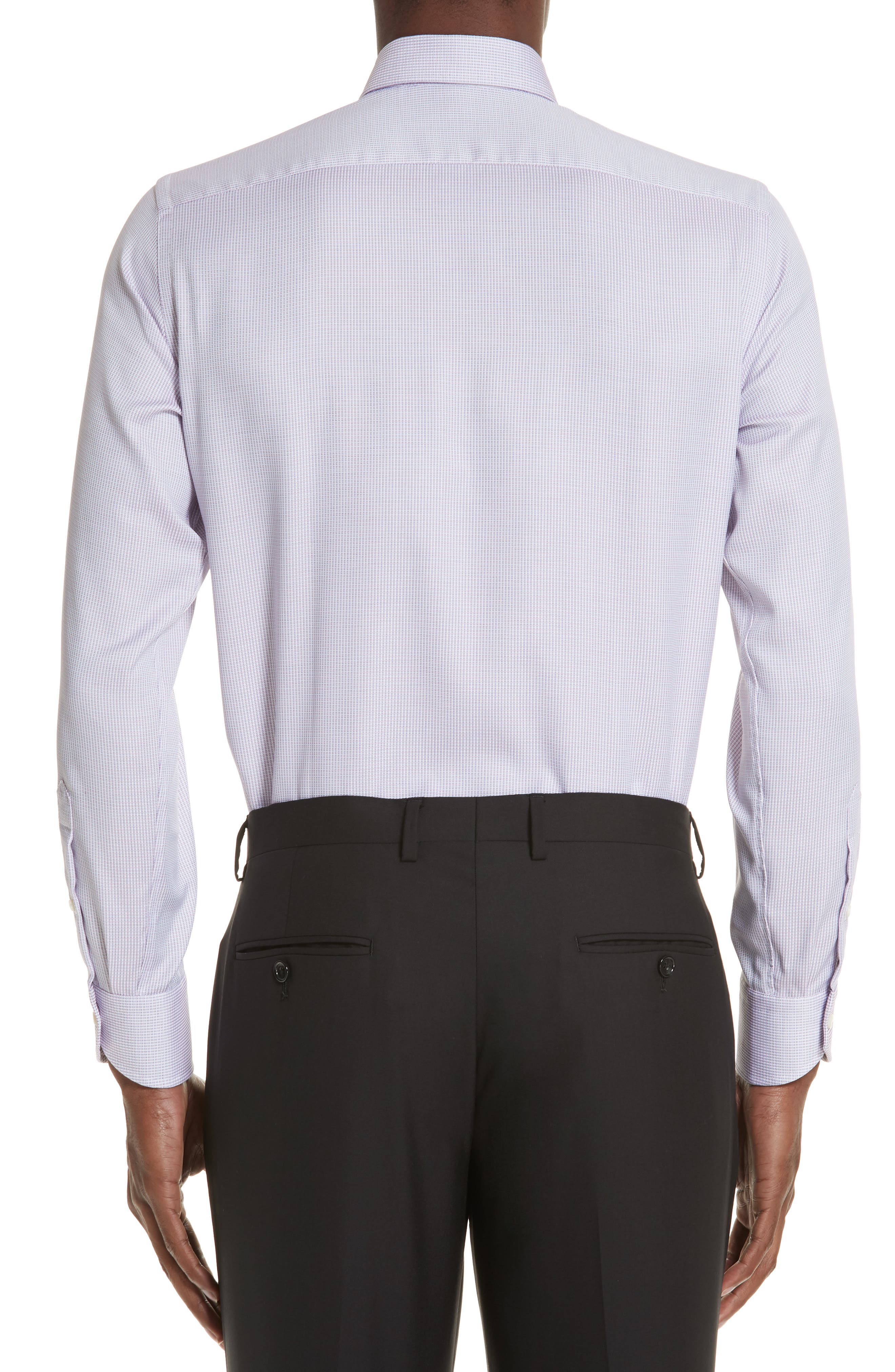 Regular Fit Stripe Dress Shirt,                             Alternate thumbnail 3, color,                             Light Pink