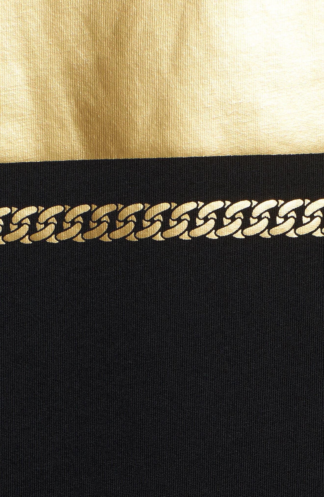 Chains T-Shirt,                             Alternate thumbnail 5, color,                             Puma Black/ Gold