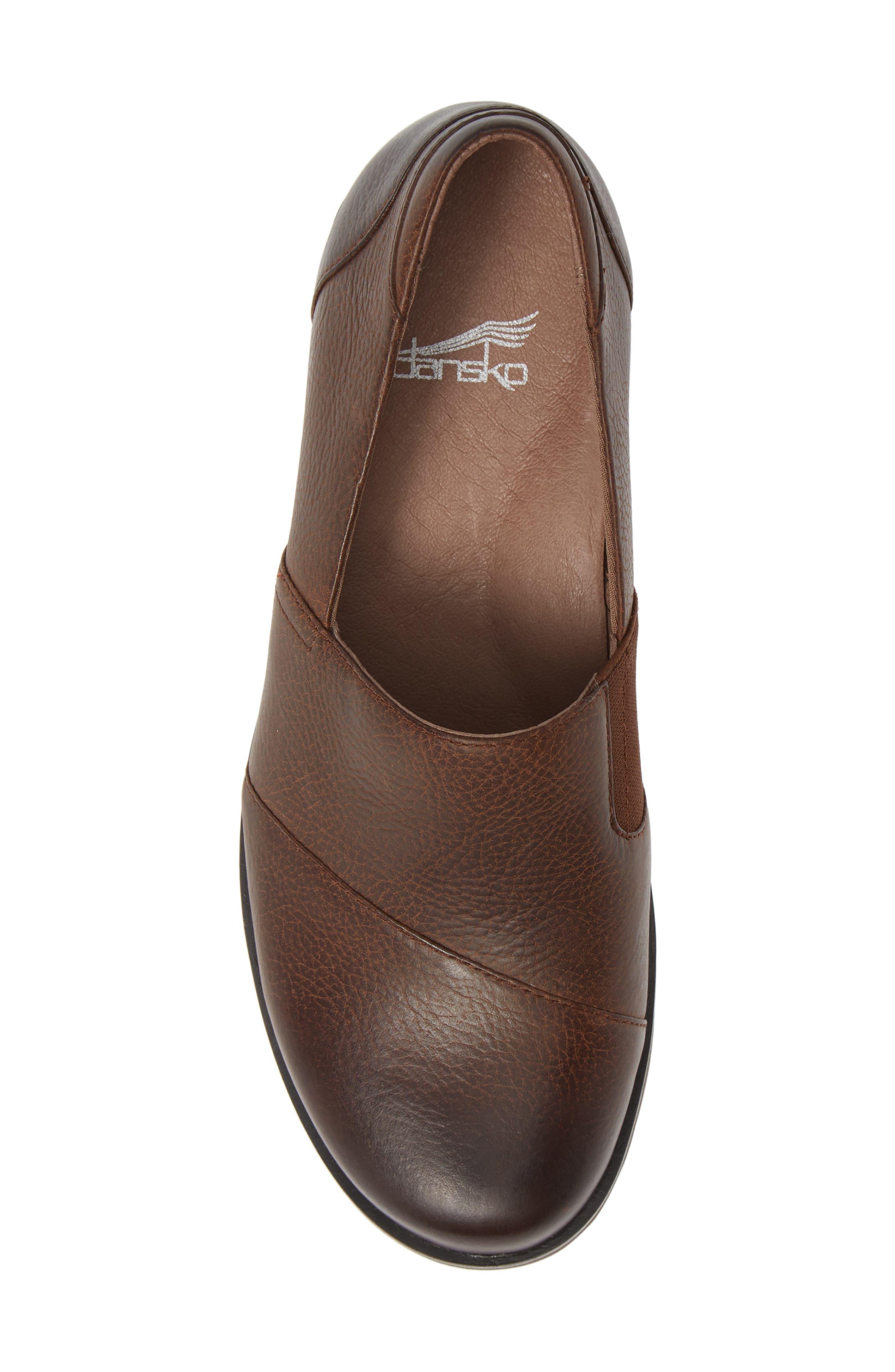 Dankso Julia Wedge Slip-On,                             Alternate thumbnail 6, color,                             Brown Burnished Nubuck Leather