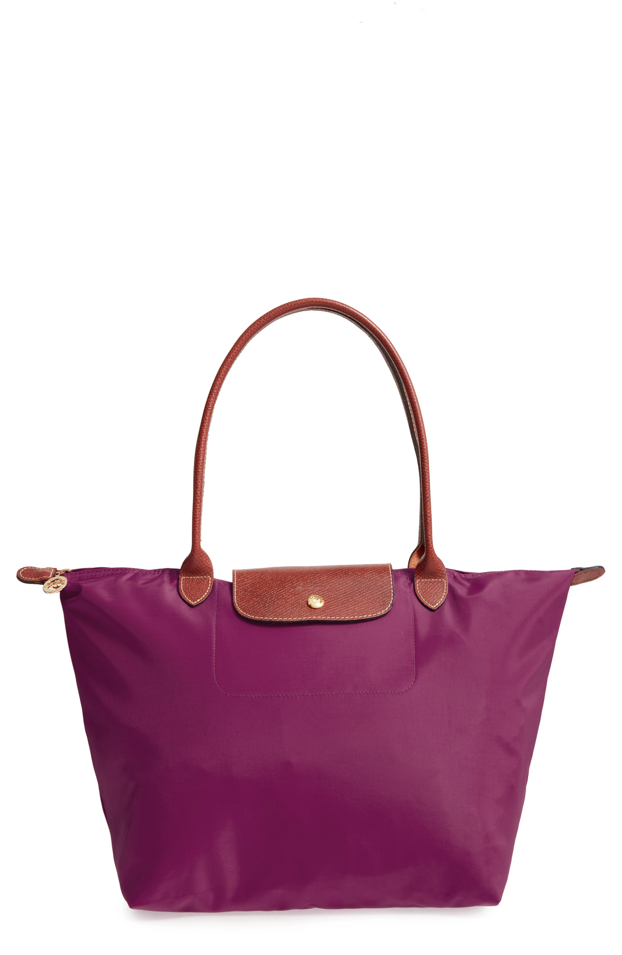 'Large Le Pliage' Tote,                         Main,                         color, Dahlia