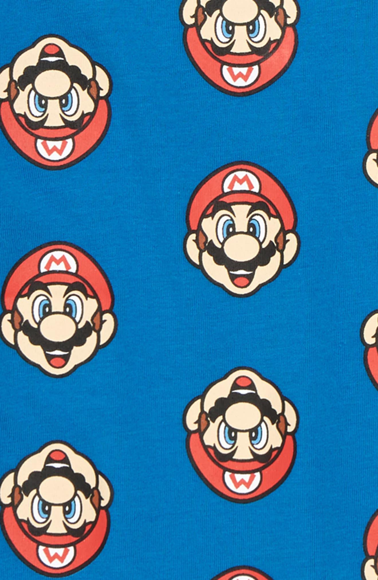 Nintendo Mario<sup>®</sup> Print T-Shirt,                             Alternate thumbnail 2, color,                             Blue