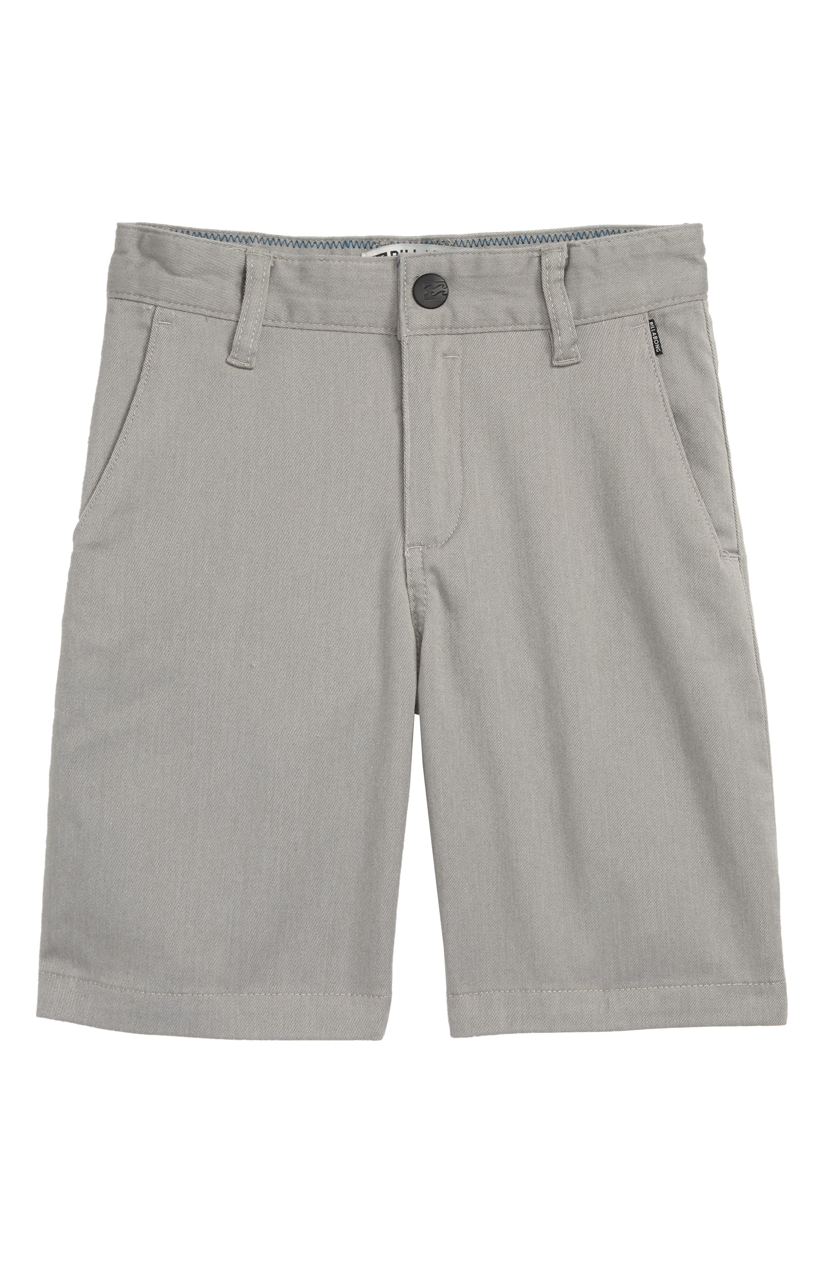 Carter Stretch Shorts,                         Main,                         color, Grey Heather