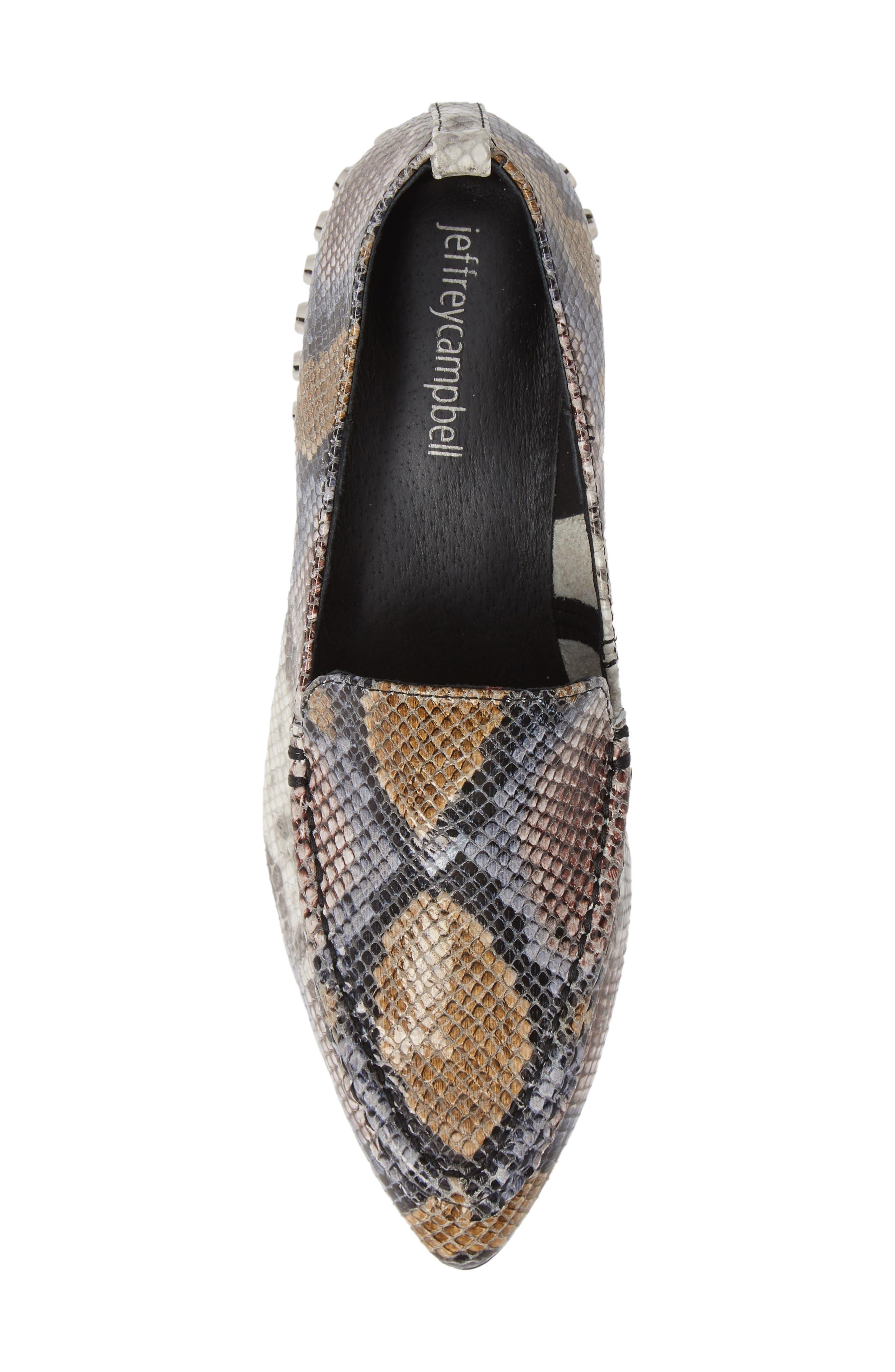 Barnett Studded Loafer,                             Alternate thumbnail 6, color,                             Multi Snake Silver