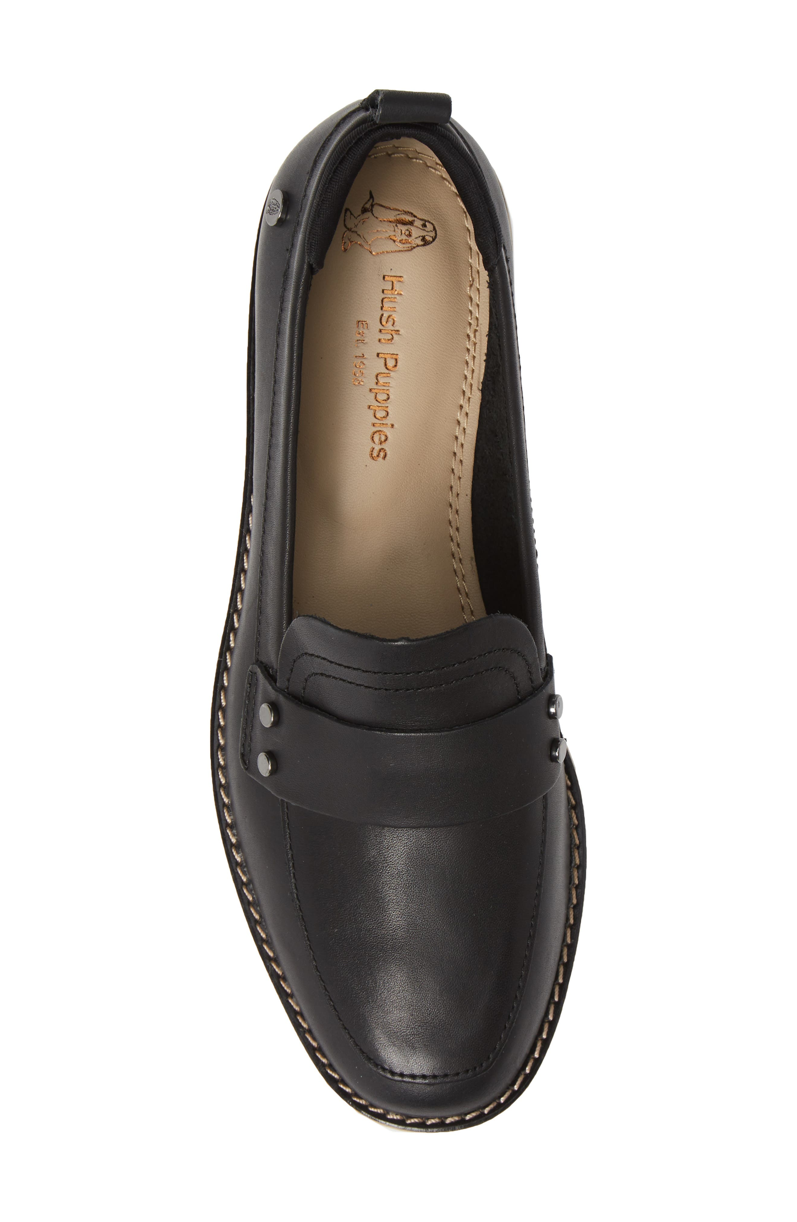 Chowchow Loafer,                             Alternate thumbnail 3, color,                             Black Leather