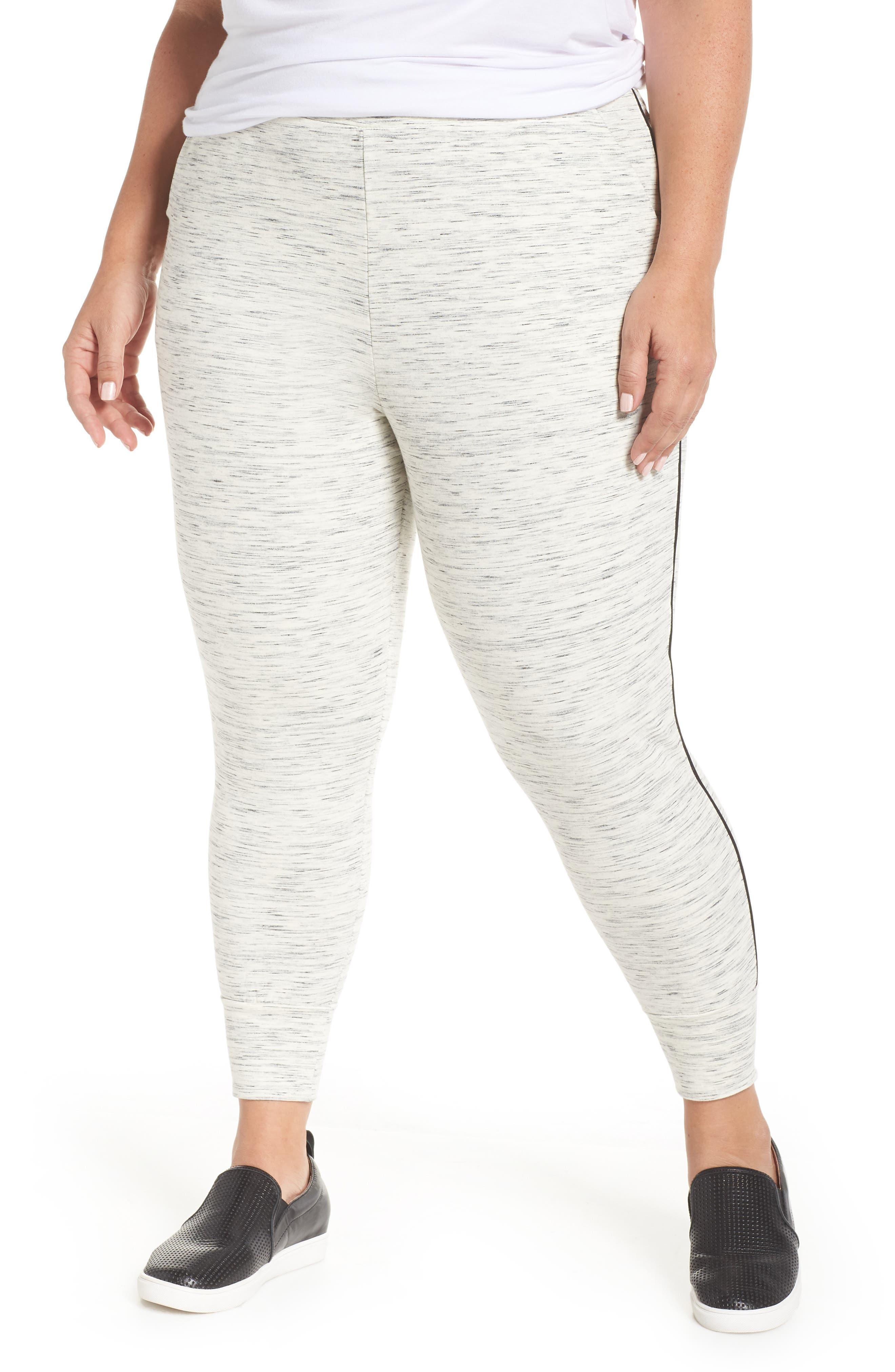 TART Catie Pants in Ivory Grey Space Dye