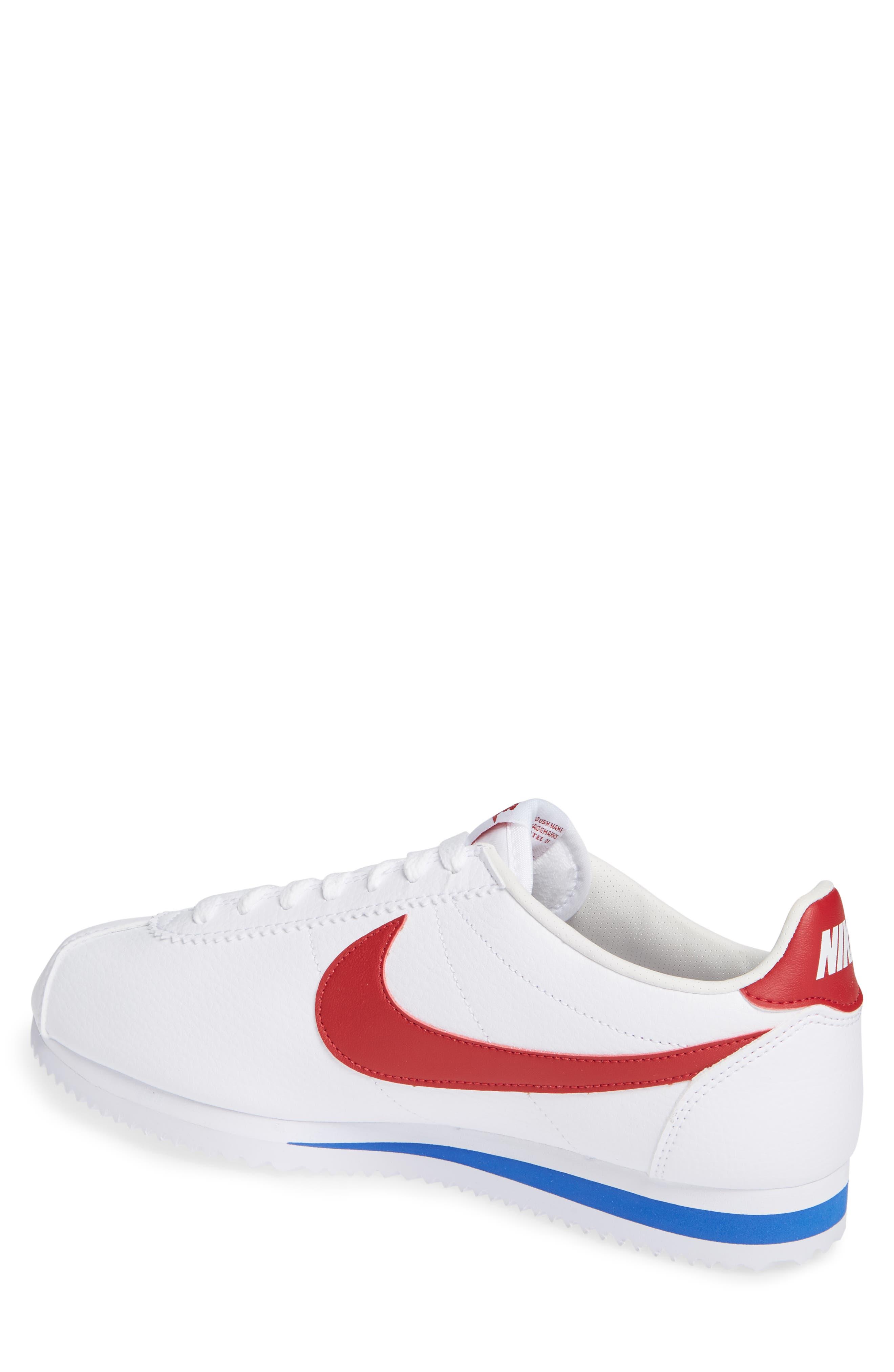 Classic Cortez Sneaker,                             Alternate thumbnail 2, color,                             White/ Varsity Red/ Royal
