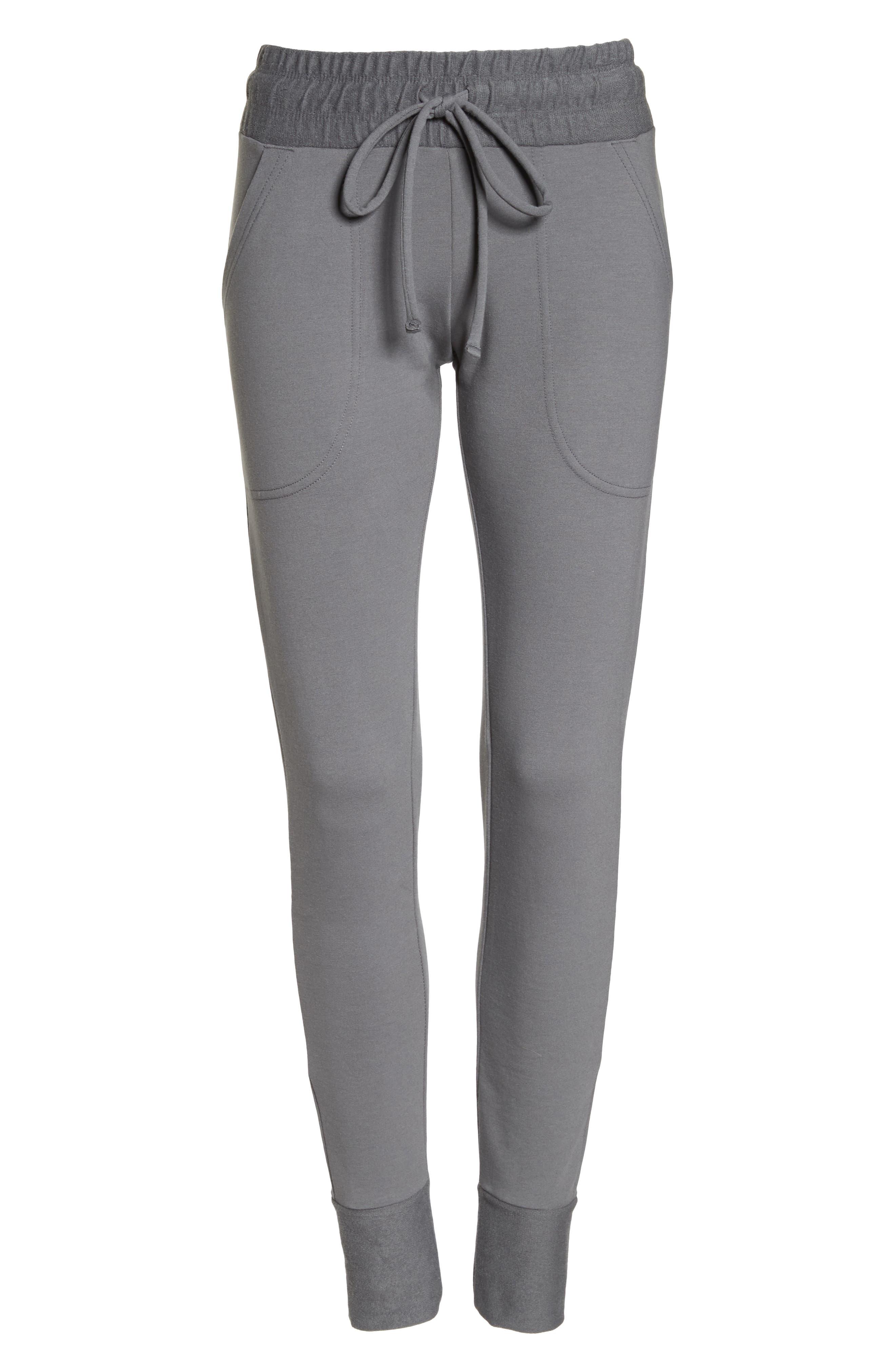 Sunny Skinny Sweatpants,                             Alternate thumbnail 7, color,                             Dark Grey