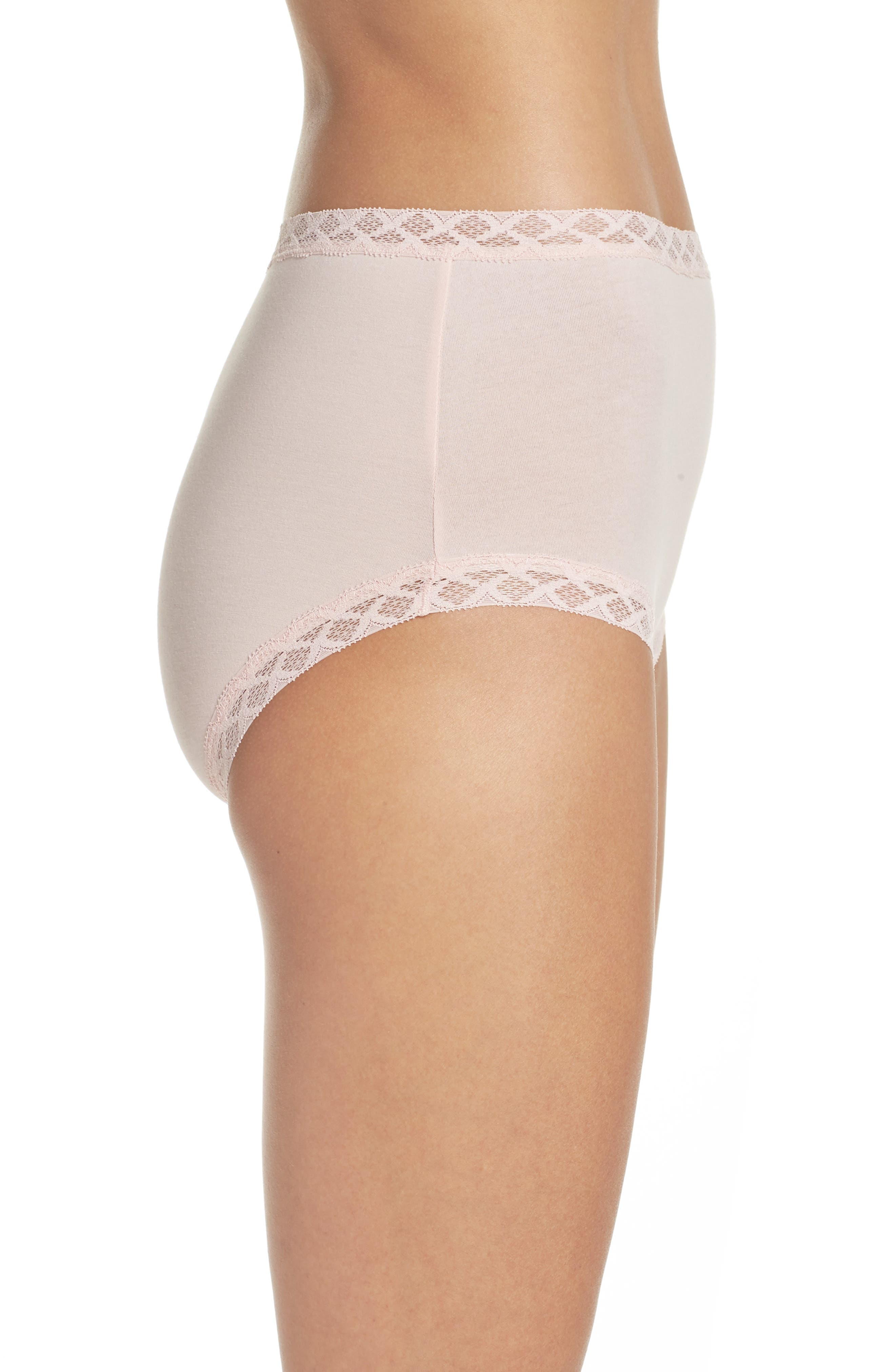 Bliss Cotton Full Brief,                             Alternate thumbnail 3, color,                             Blushing Pink