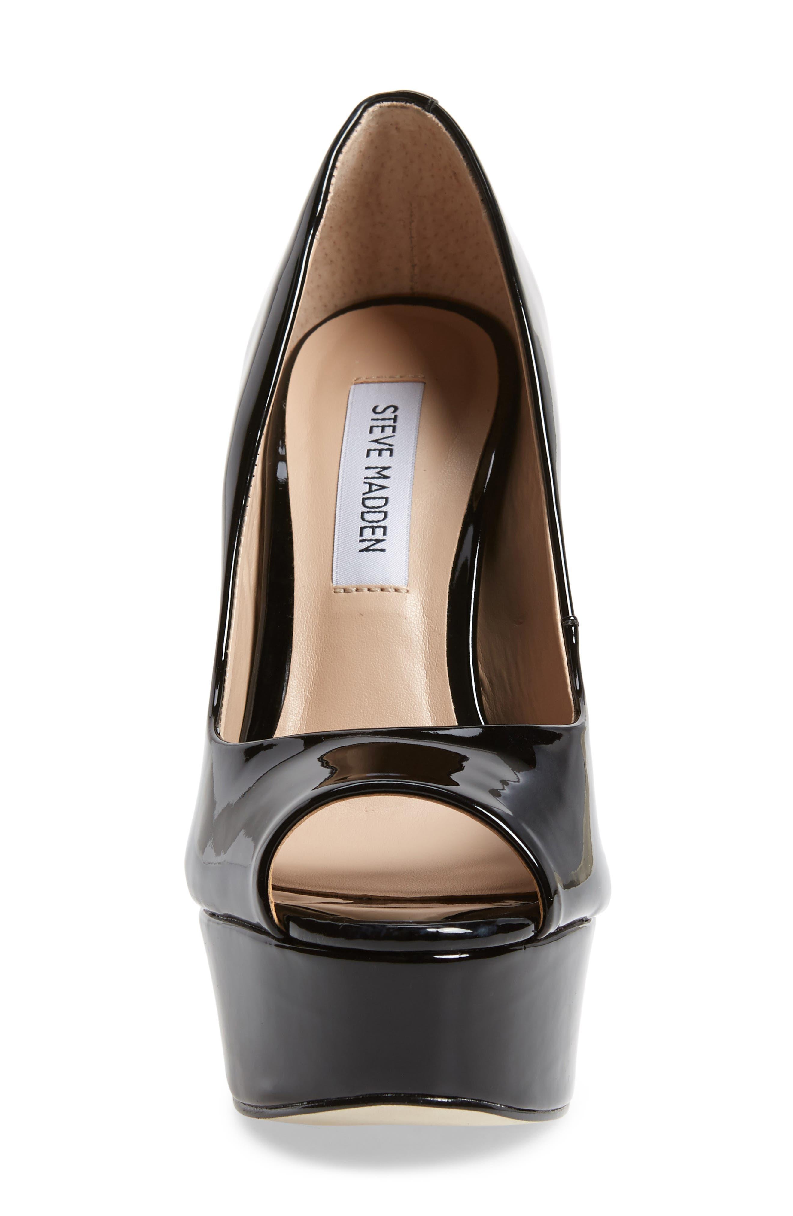 Deanna Platform Sandal,                             Alternate thumbnail 6, color,                             Black Patent