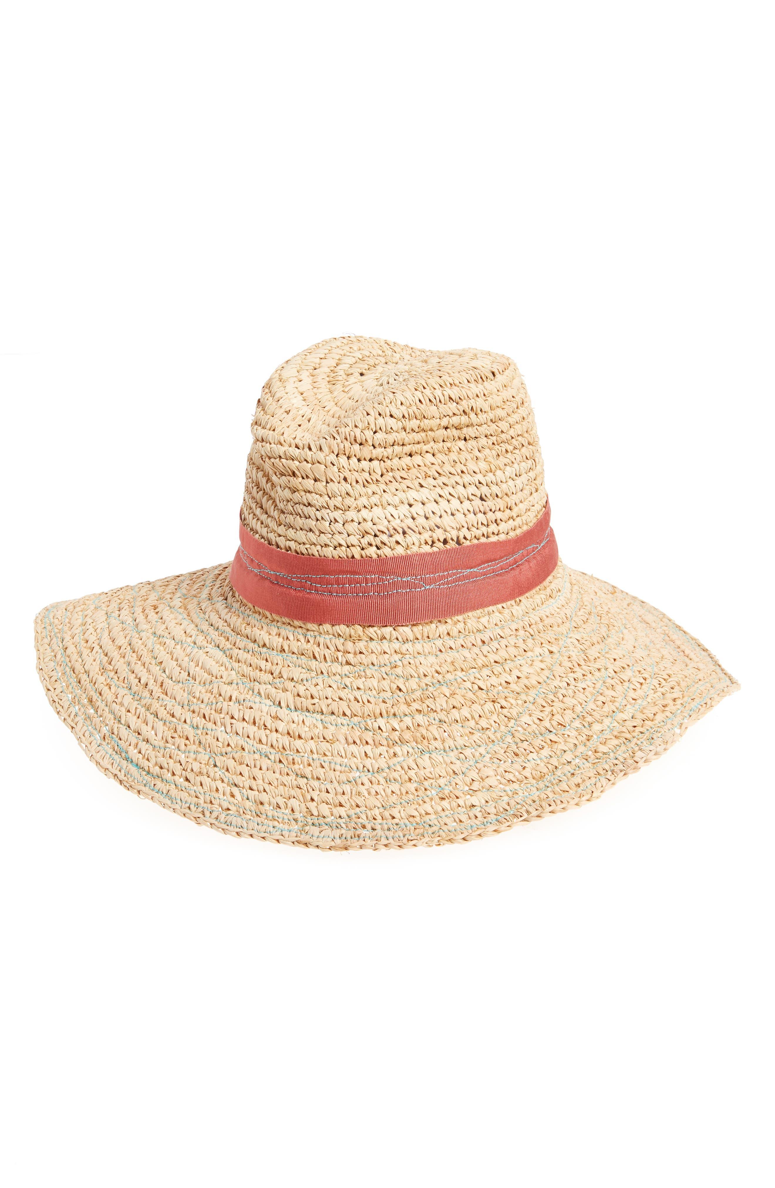 LOLA HATS RE-MAMA TARBOUSH RAFFIA HAT - RED