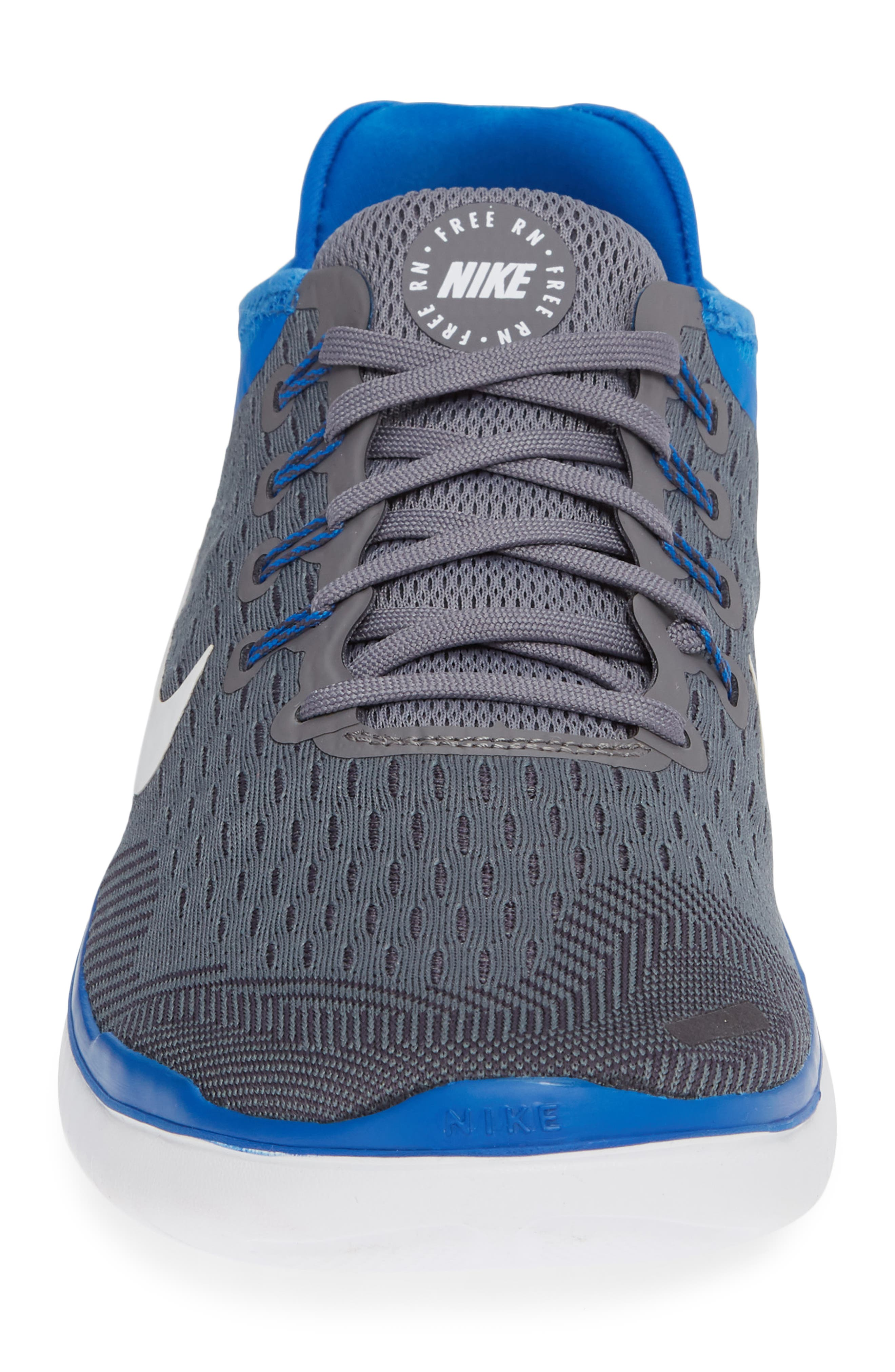 Free RN 2018 Running Shoe,                             Alternate thumbnail 3, color,                             Gunsmoke/ White/ Blue