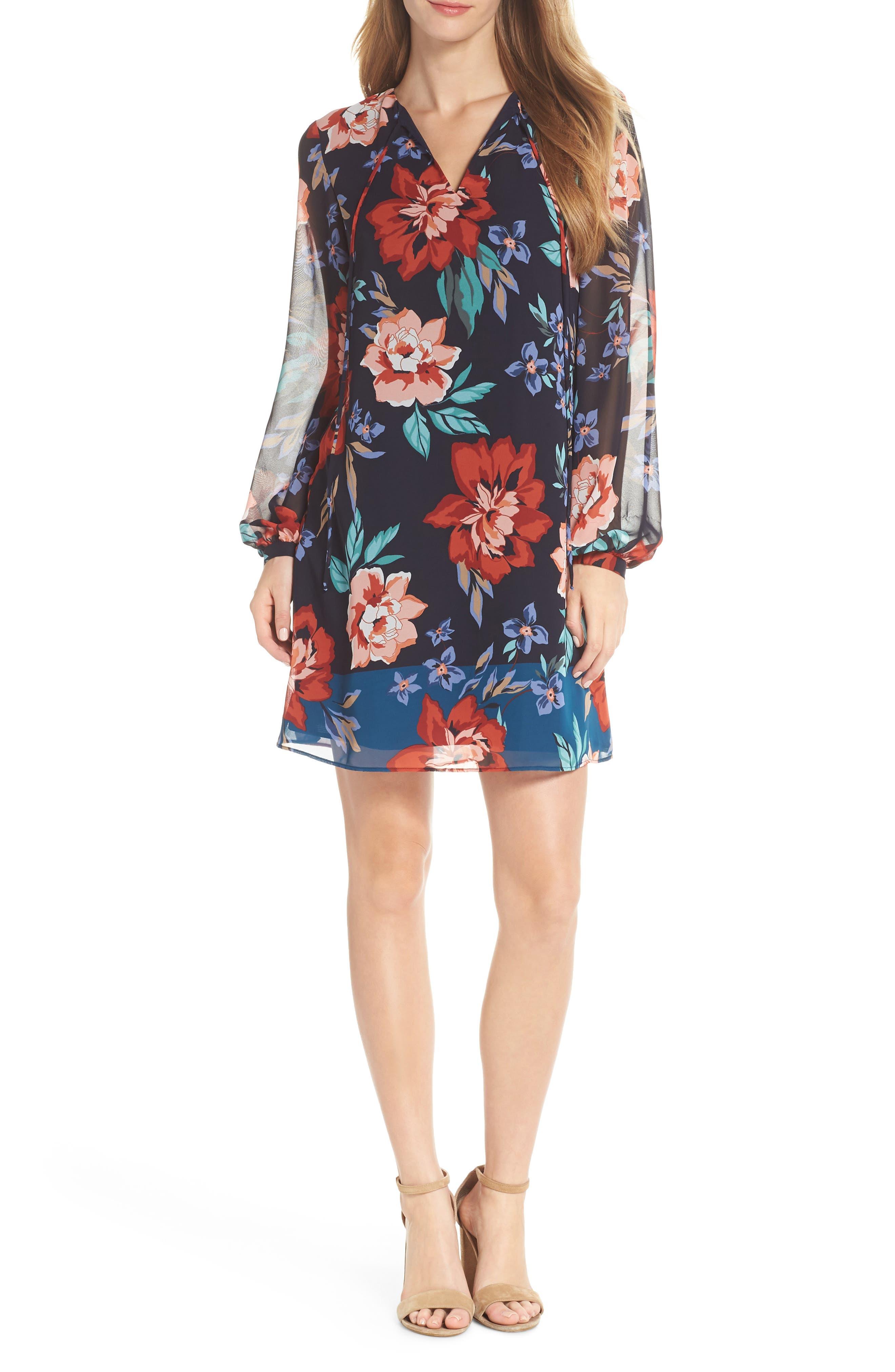 CHIFFON SHIFT DRESS