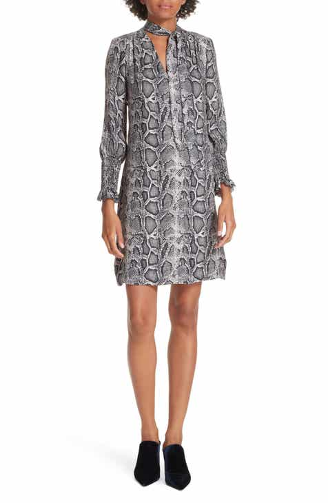 Rebecca Taylor Snake Print Shift Dress