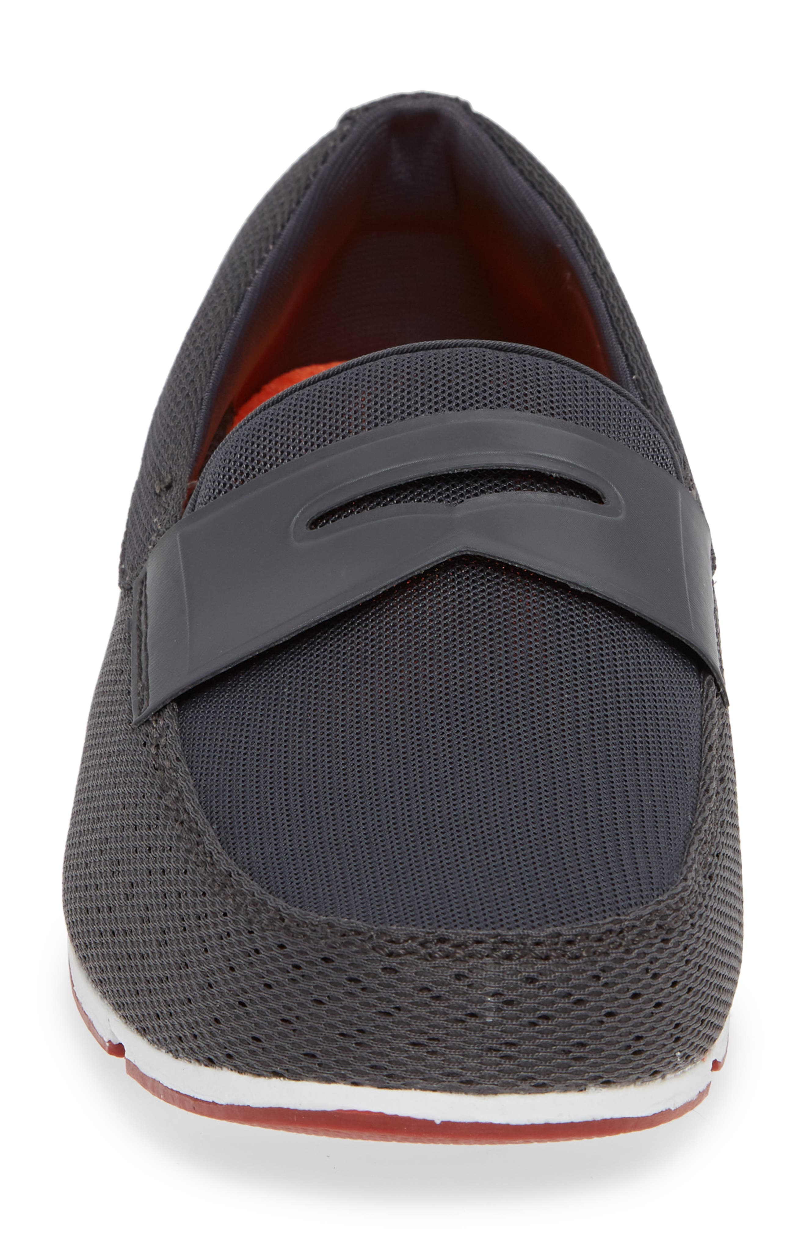 Breeze Penny Loafer,                             Alternate thumbnail 5, color,                             Dark Gray/Red Lacquer