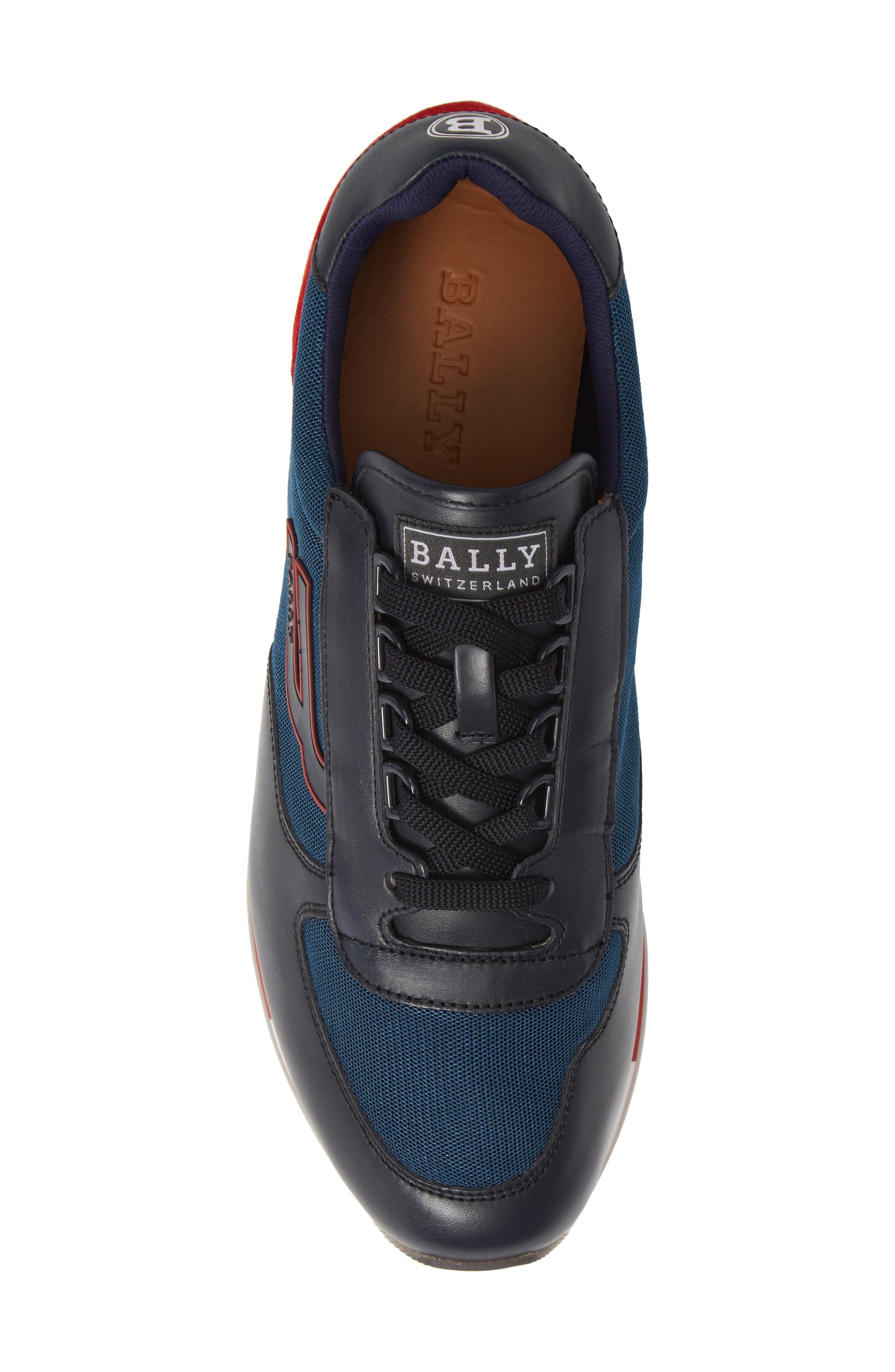 Gavino Low Top Sneaker,                             Alternate thumbnail 5, color,                             Blue