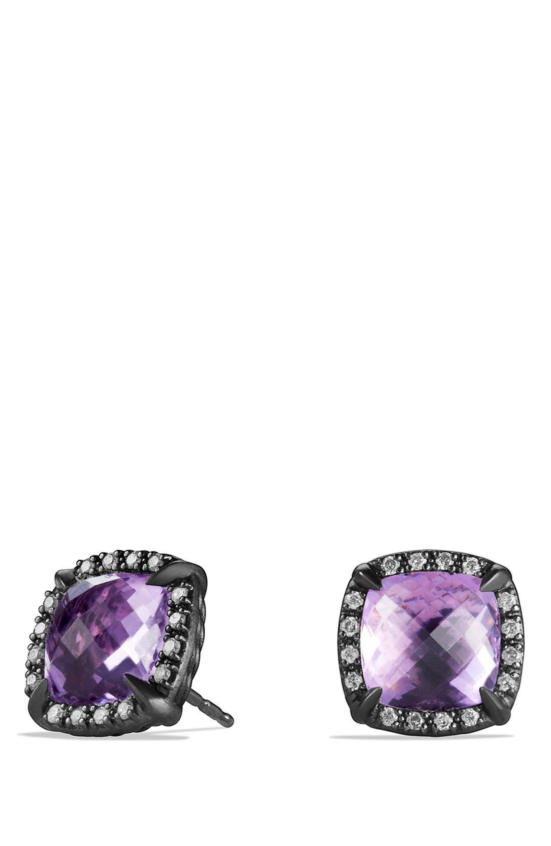 Alternate Image 1 Selected - David Yurman 'Châtelaine' Earrings with Semiprecious Stone and Diamonds