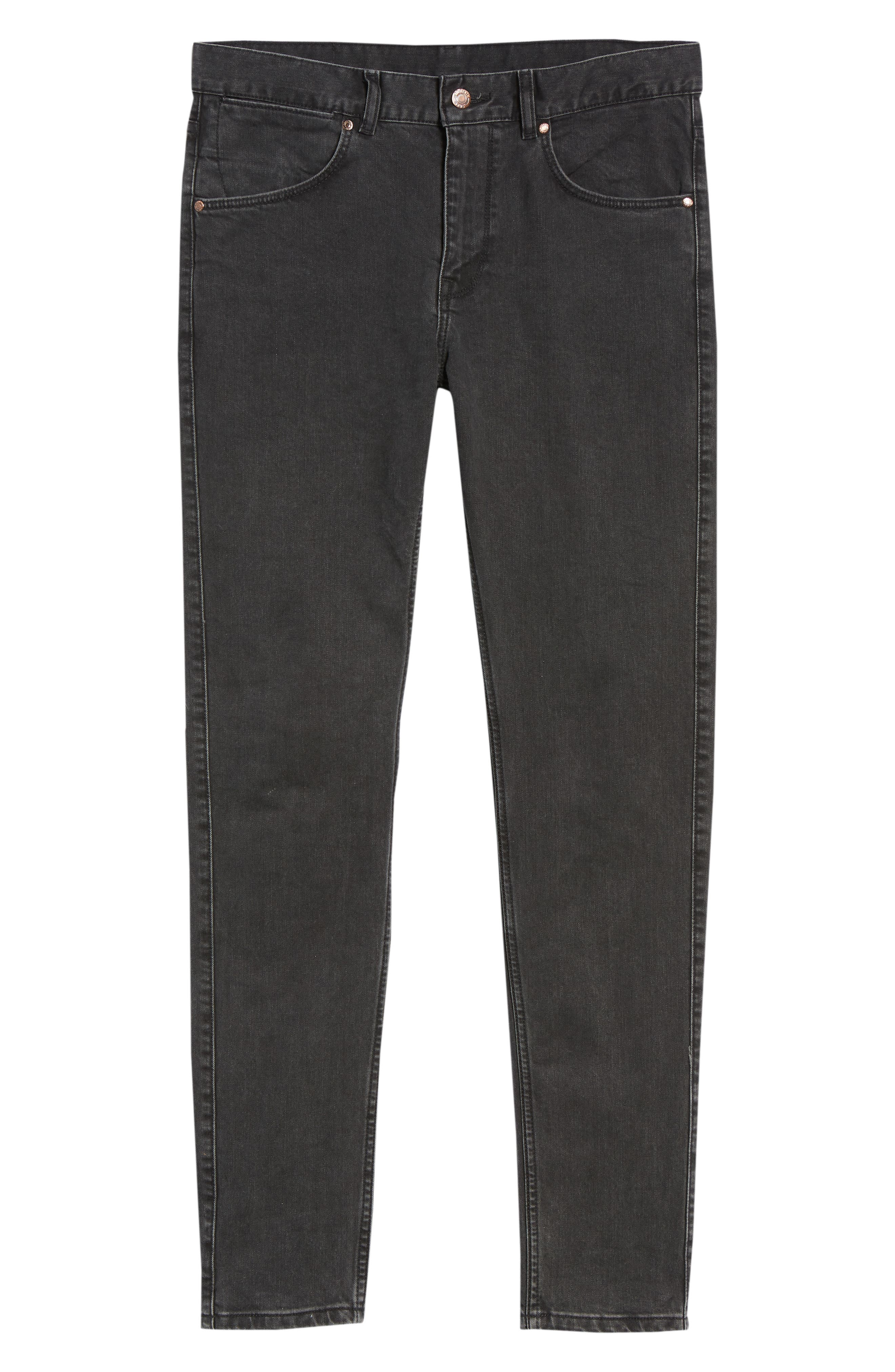 Clark Slim Straight Leg Jeans,                             Alternate thumbnail 7, color,                             Black Vintage