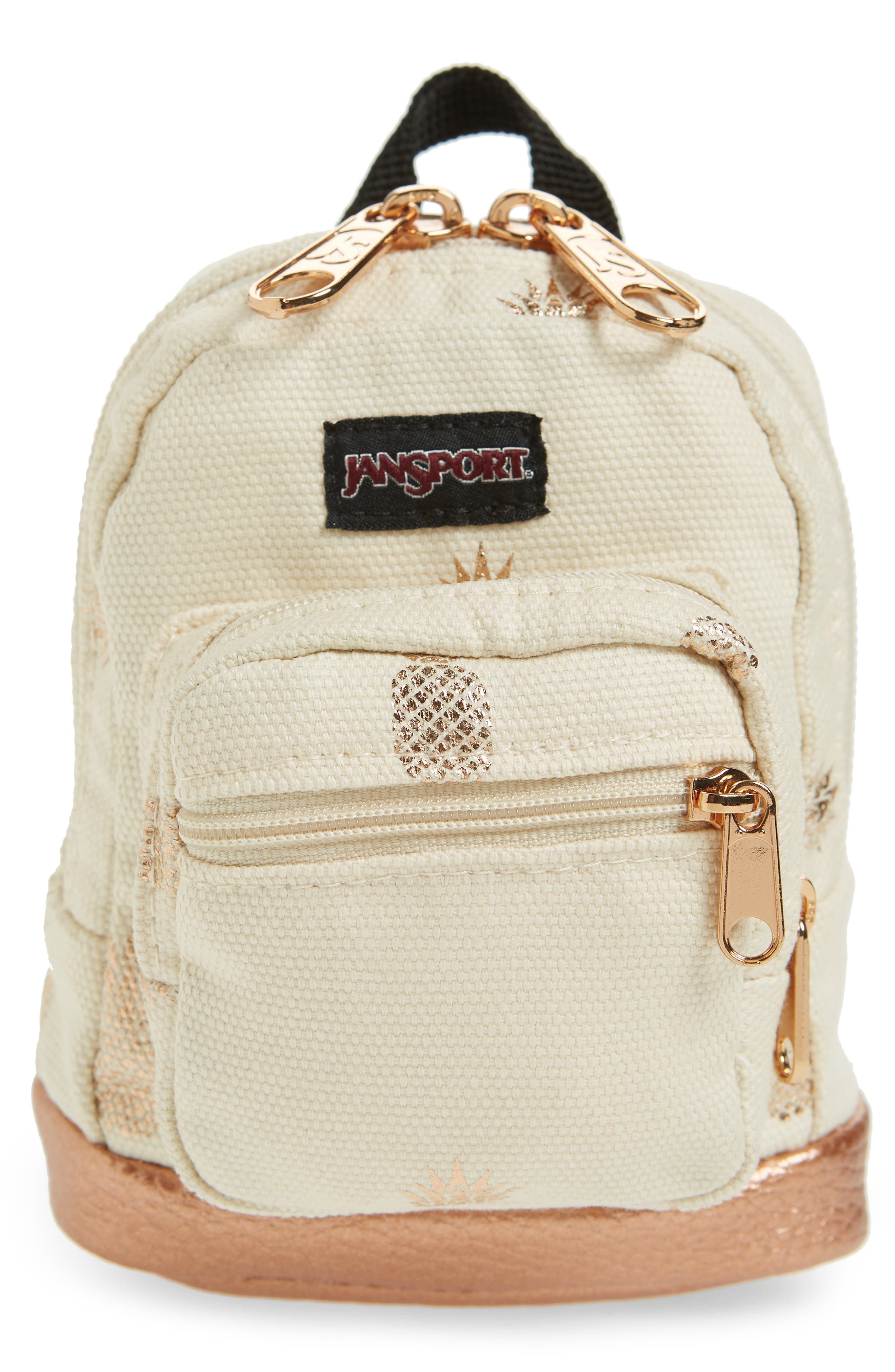 JANSPORT RIGHT POUCH MINI BACKPACK - BEIGE