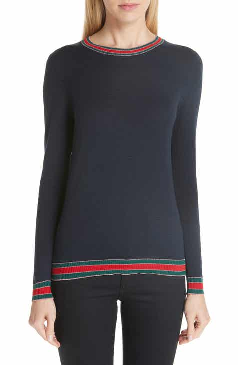 4deb69d8562 Gucci Stripe Trim Wool Sweater