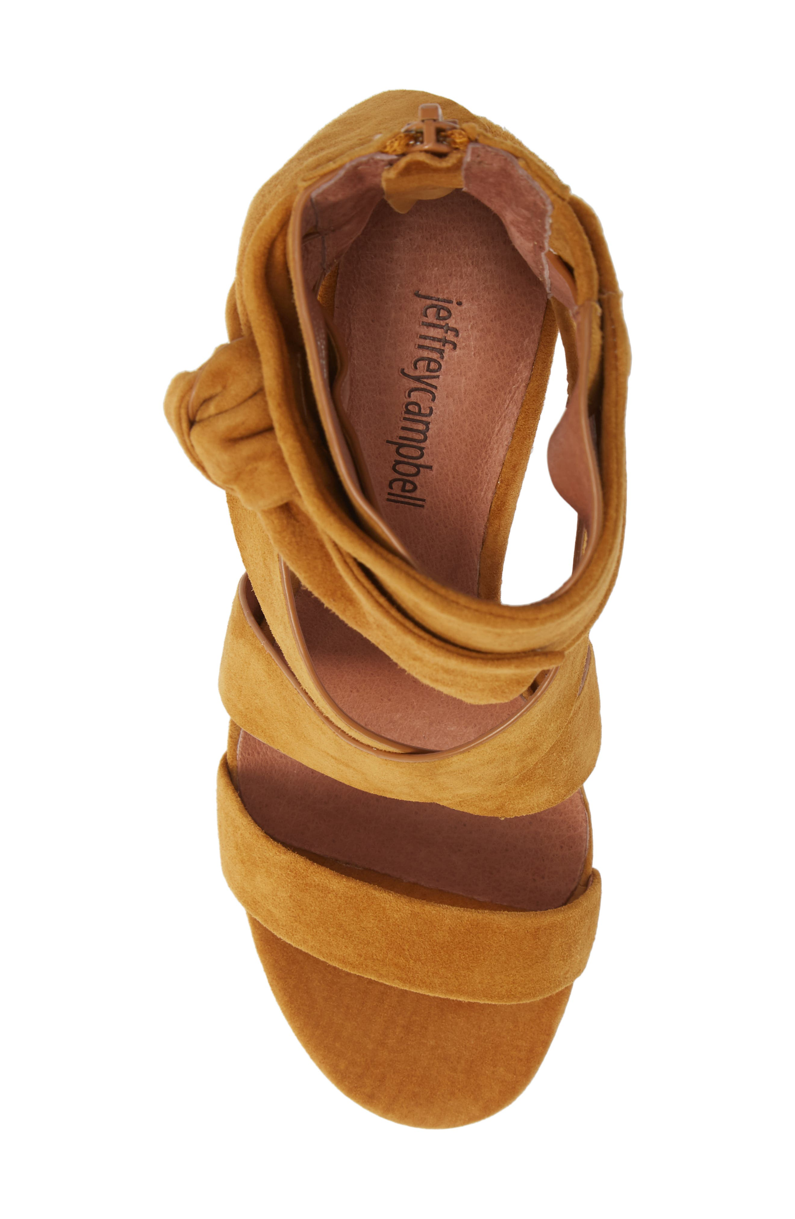 Despoina Sandal,                             Alternate thumbnail 3, color,                             Mustard Suede Leather