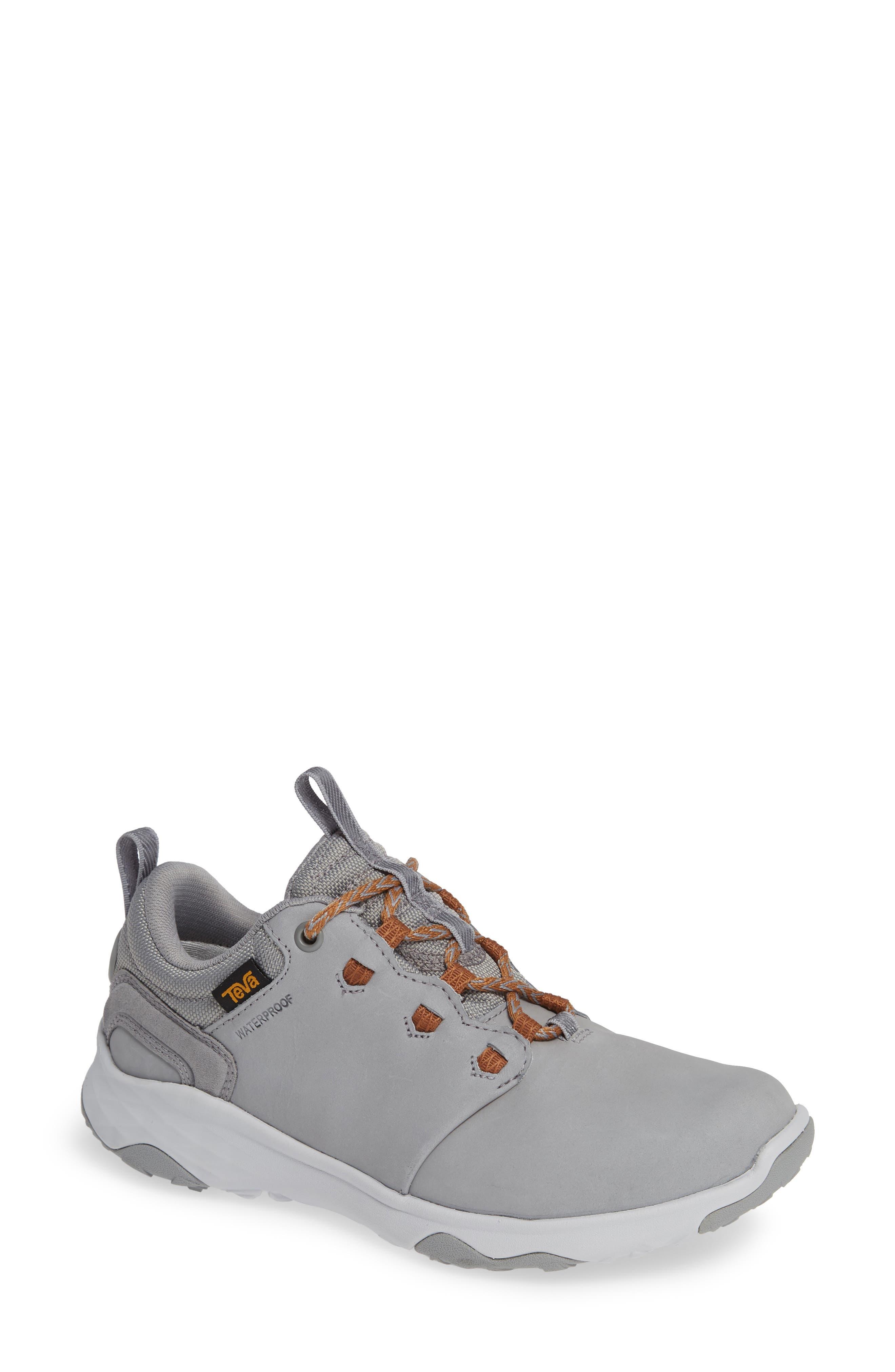 TEVA 'Arrowood' Waterproof Sneaker in Wild Dove Leather