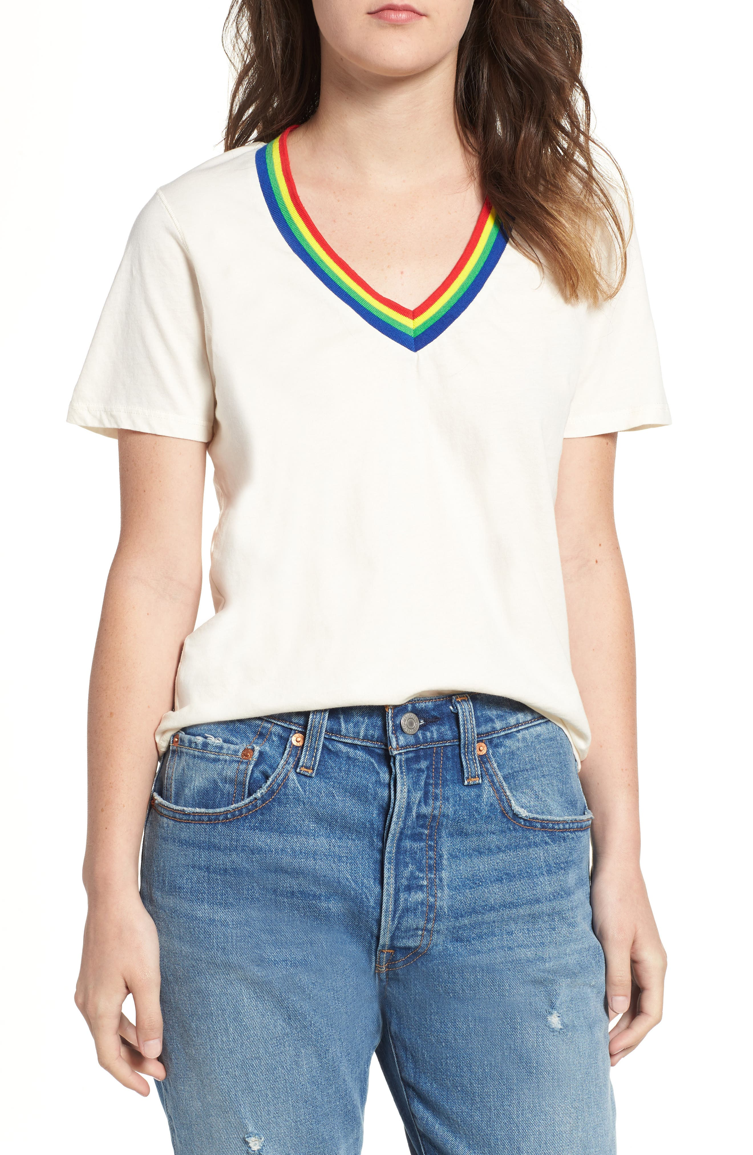 Over the Rainbow Tee,                         Main,                         color, Ivory