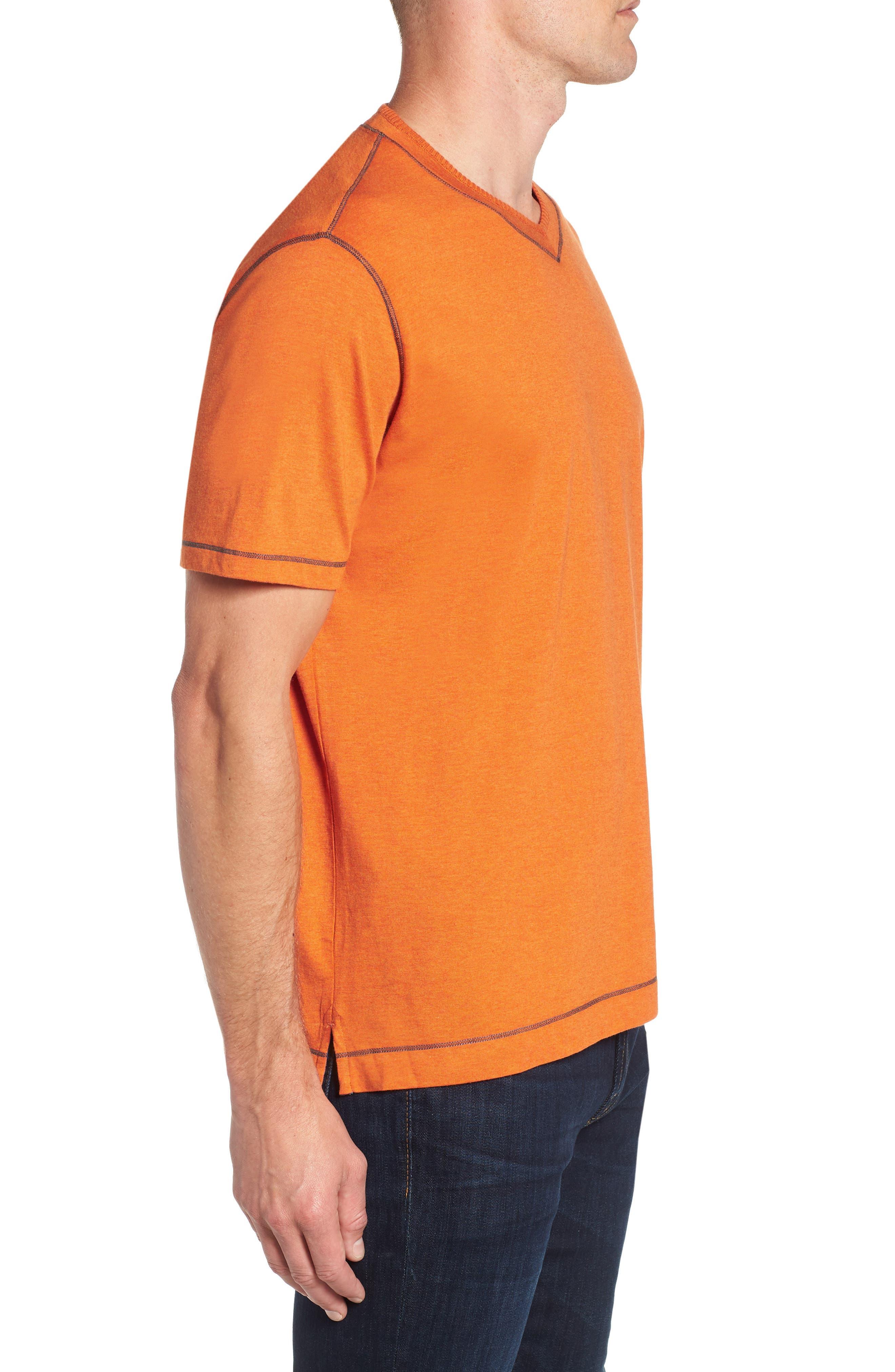 Traveler V-Neck T-Shirt,                             Alternate thumbnail 3, color,                             Orange