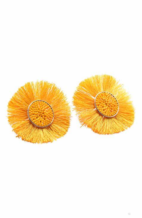 Womens yellow earrings nordstrom mishky medium sun earrings mightylinksfo