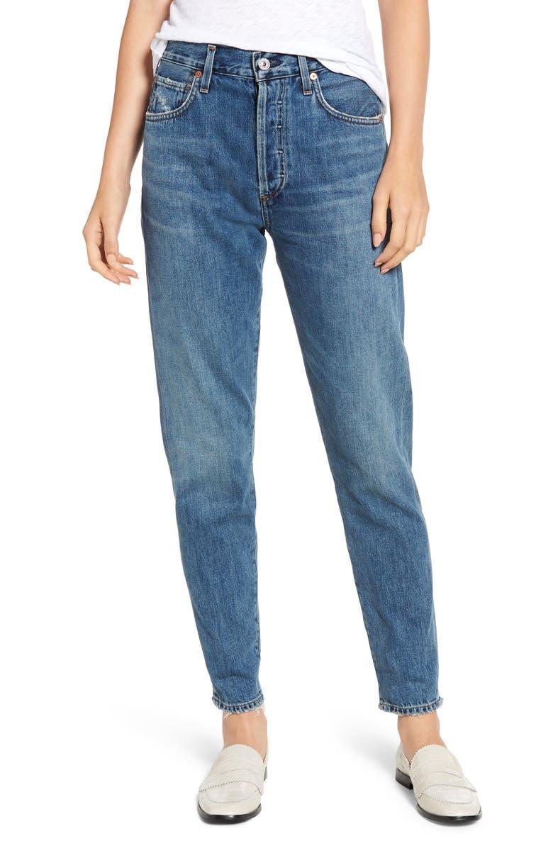 Liya High Waist Boyfriend Jeans