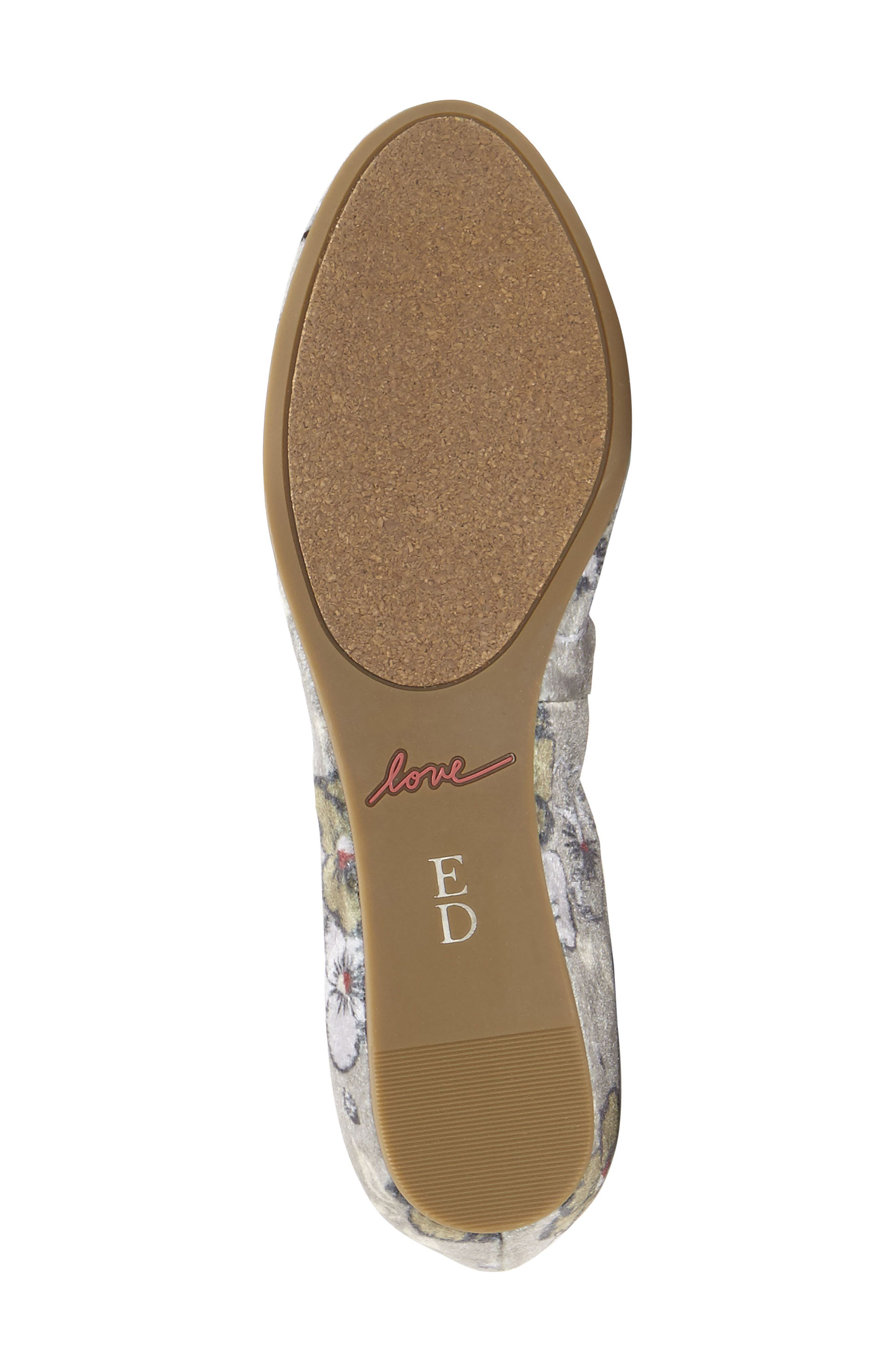 'Langston' Ballet Flat,                             Alternate thumbnail 5, color,                             Light Shadow Leather
