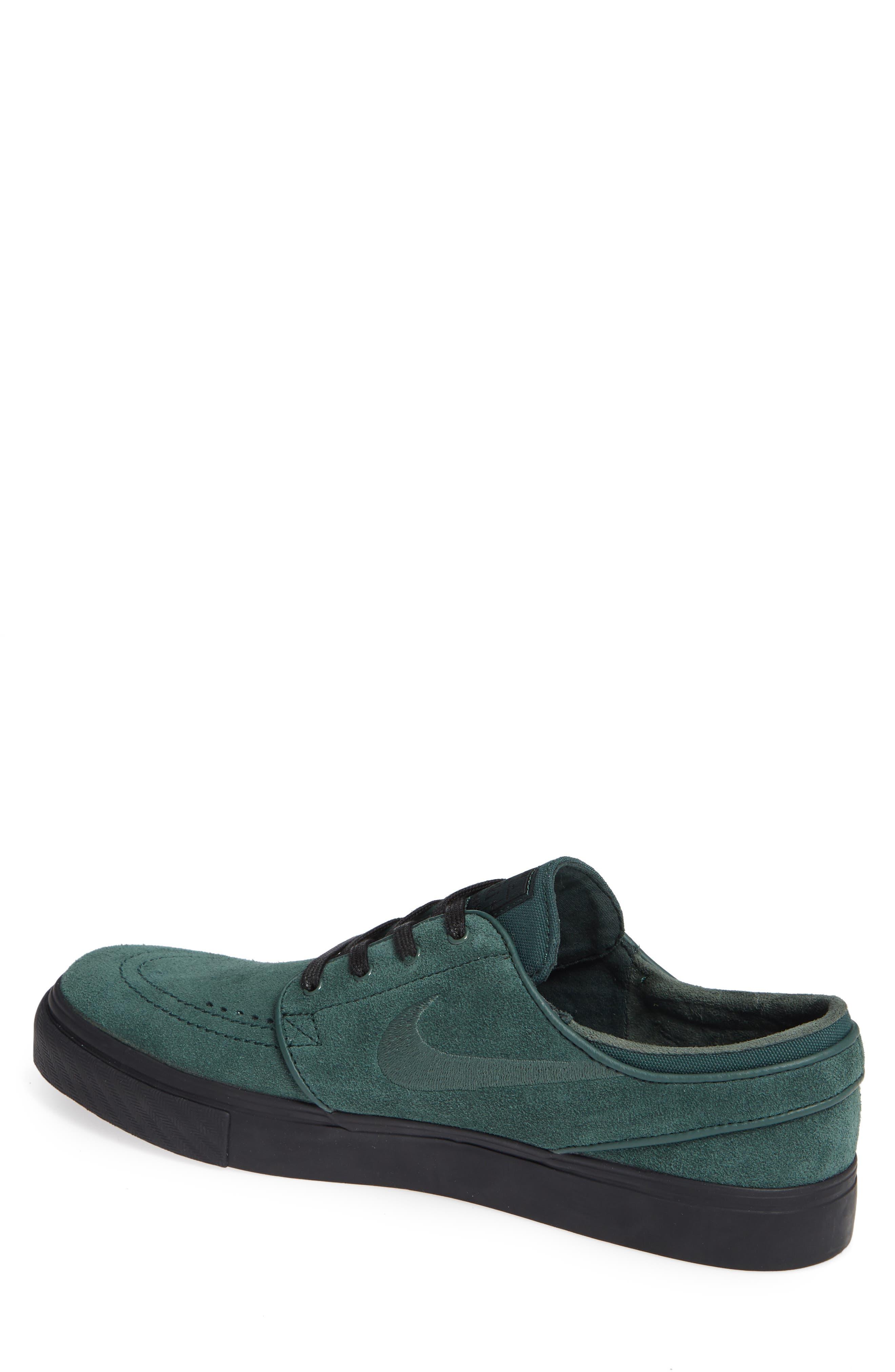 'Zoom - Stefan Janoski' Skate Shoe,                             Alternate thumbnail 2, color,                             Midnight Green/ Black