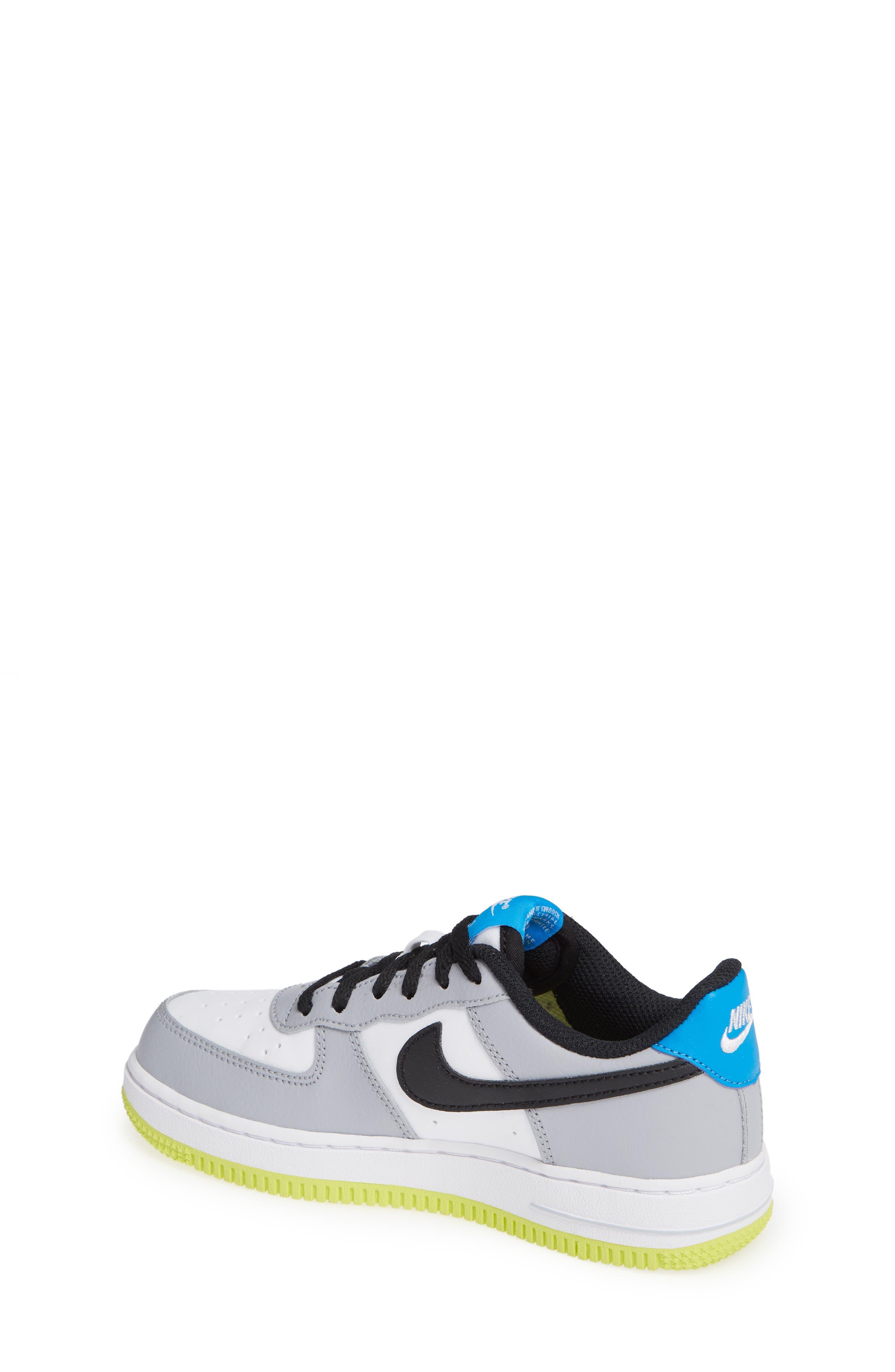 Air Force 1 Sneaker,                             Alternate thumbnail 2, color,                             Wolf Grey/ Black/ White/ Blue