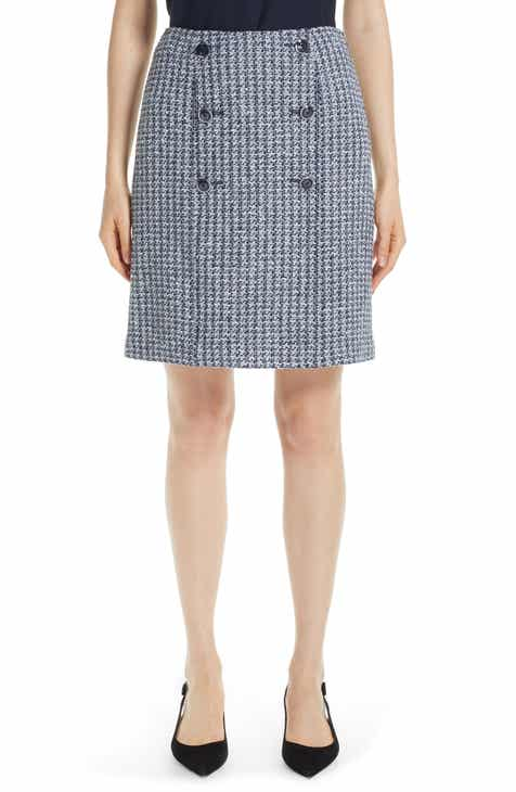 St. John Collection Contrast Geometric Knit Sailor Skirt by ST. JOHN COLLECTION