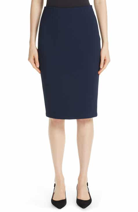St. John Collection Luxe Sculptural Knit Pencil Skirt by ST. JOHN COLLECTION