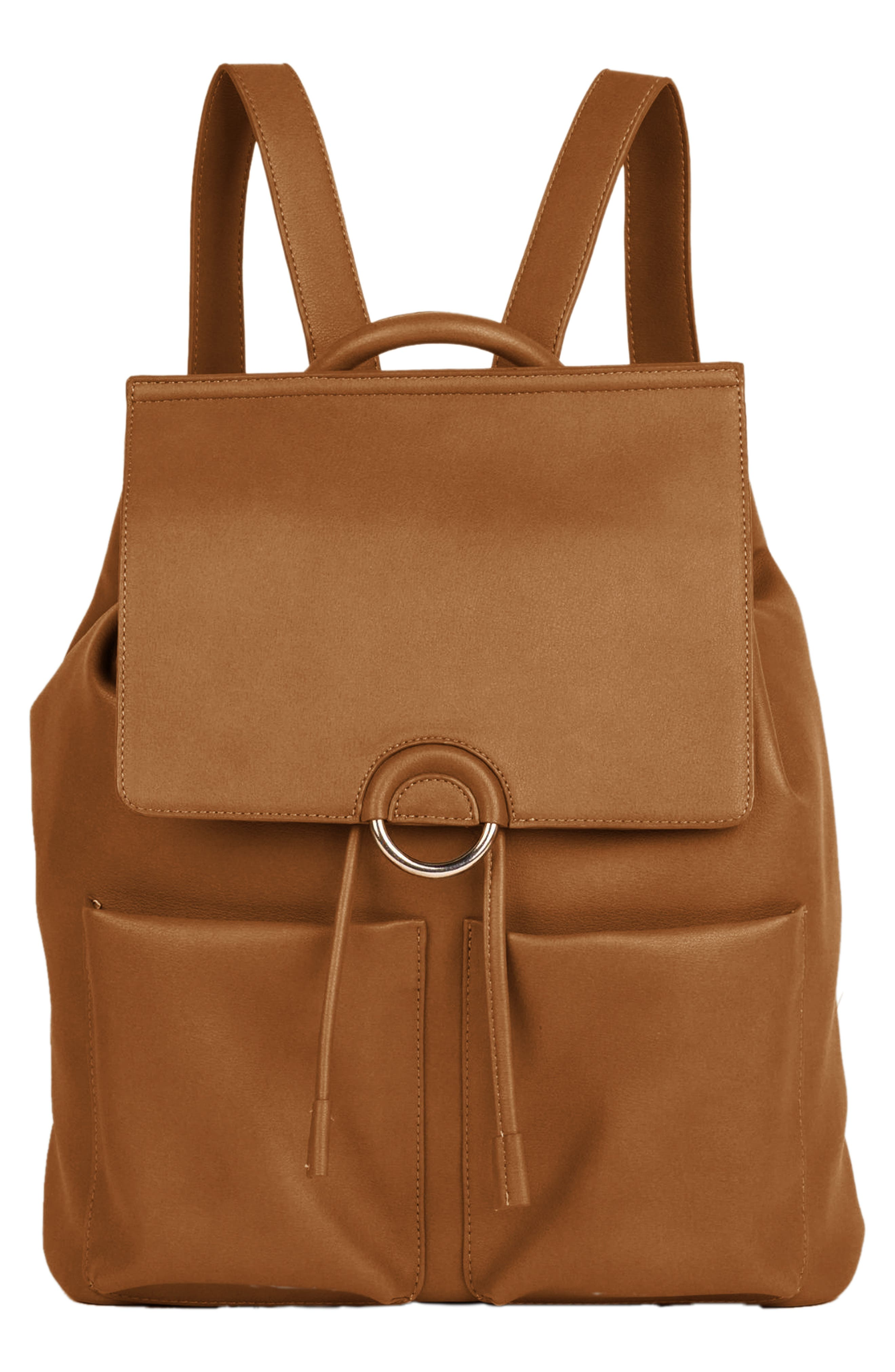 URBAN ORIGINALS THE THRILL VEGAN LEATHER BACKPACK - BROWN