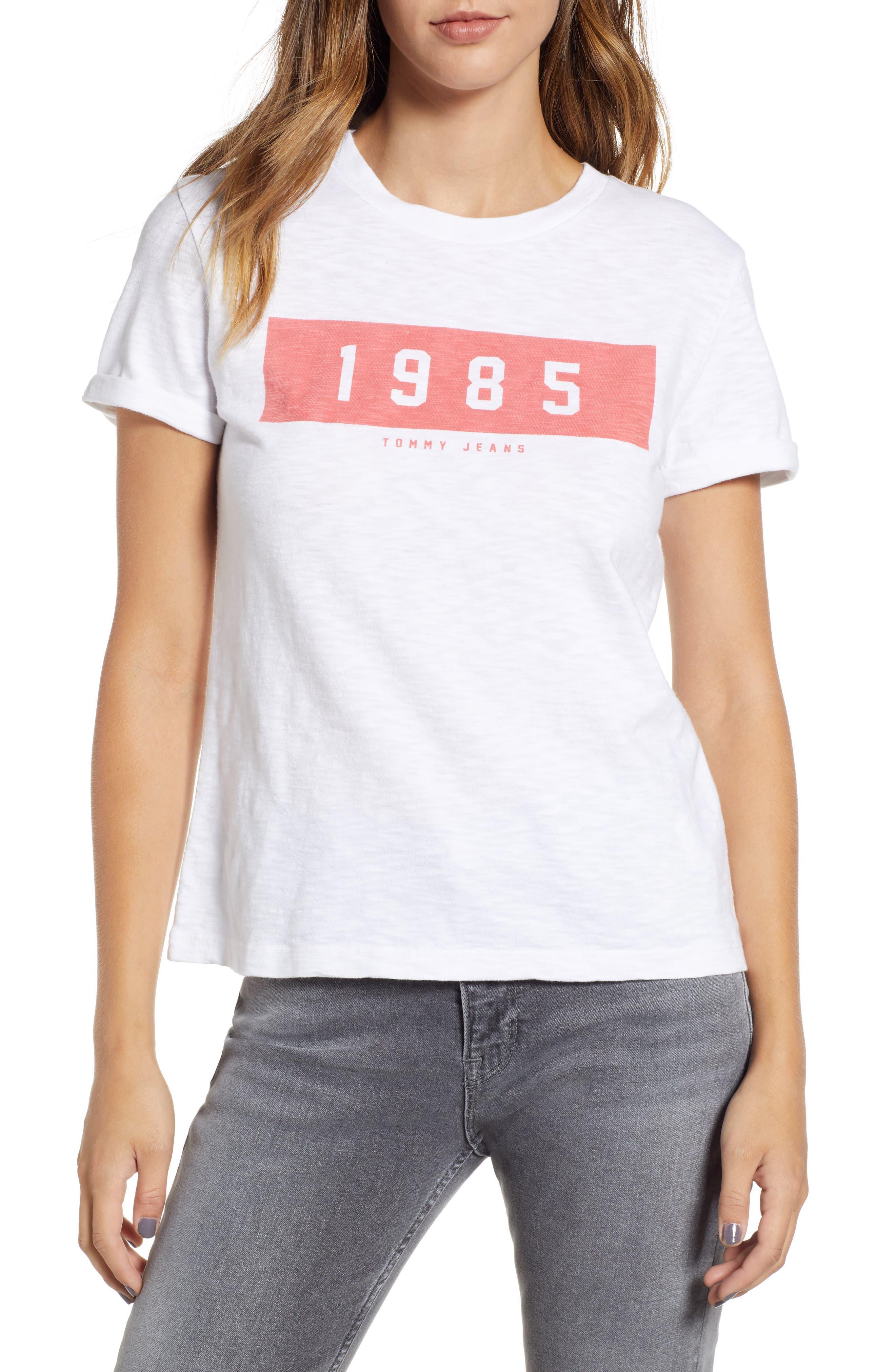 Bold 1985 Tee,                         Main,                         color, Bright White