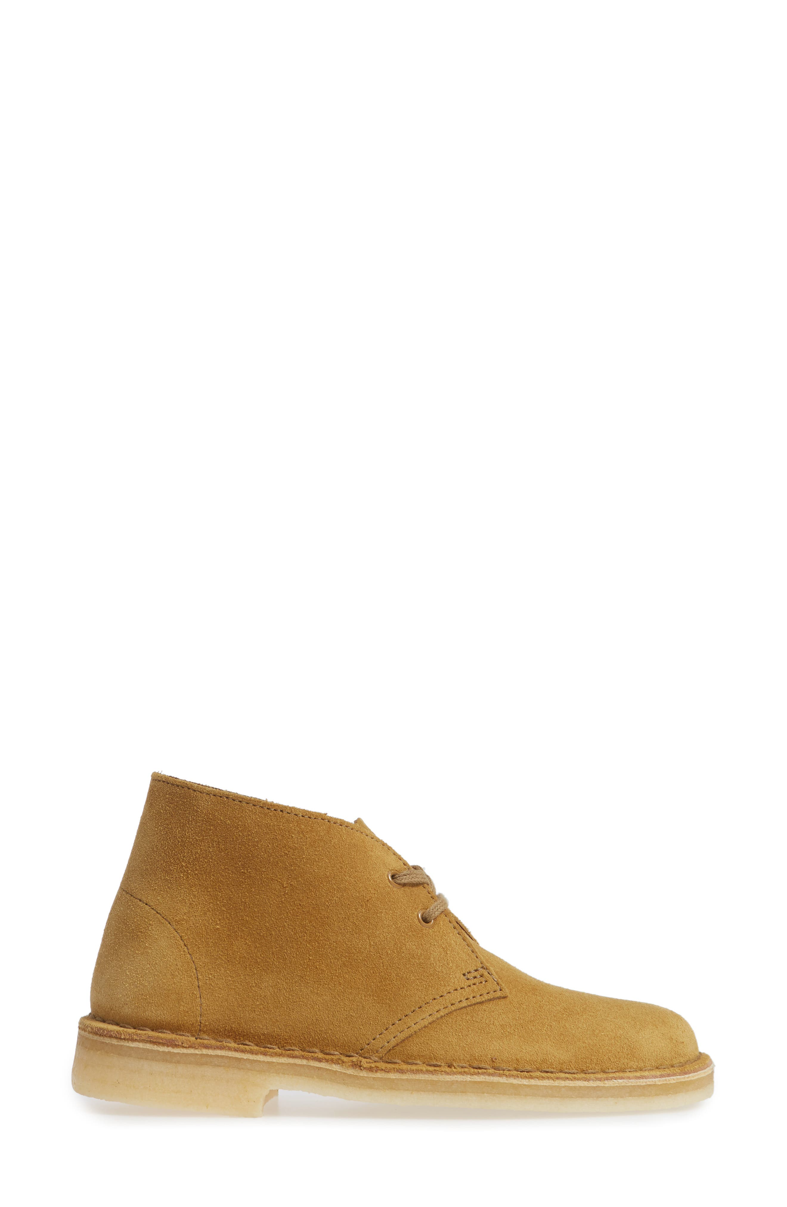 Desert Bootie,                             Alternate thumbnail 4, color,                             Oak Suede