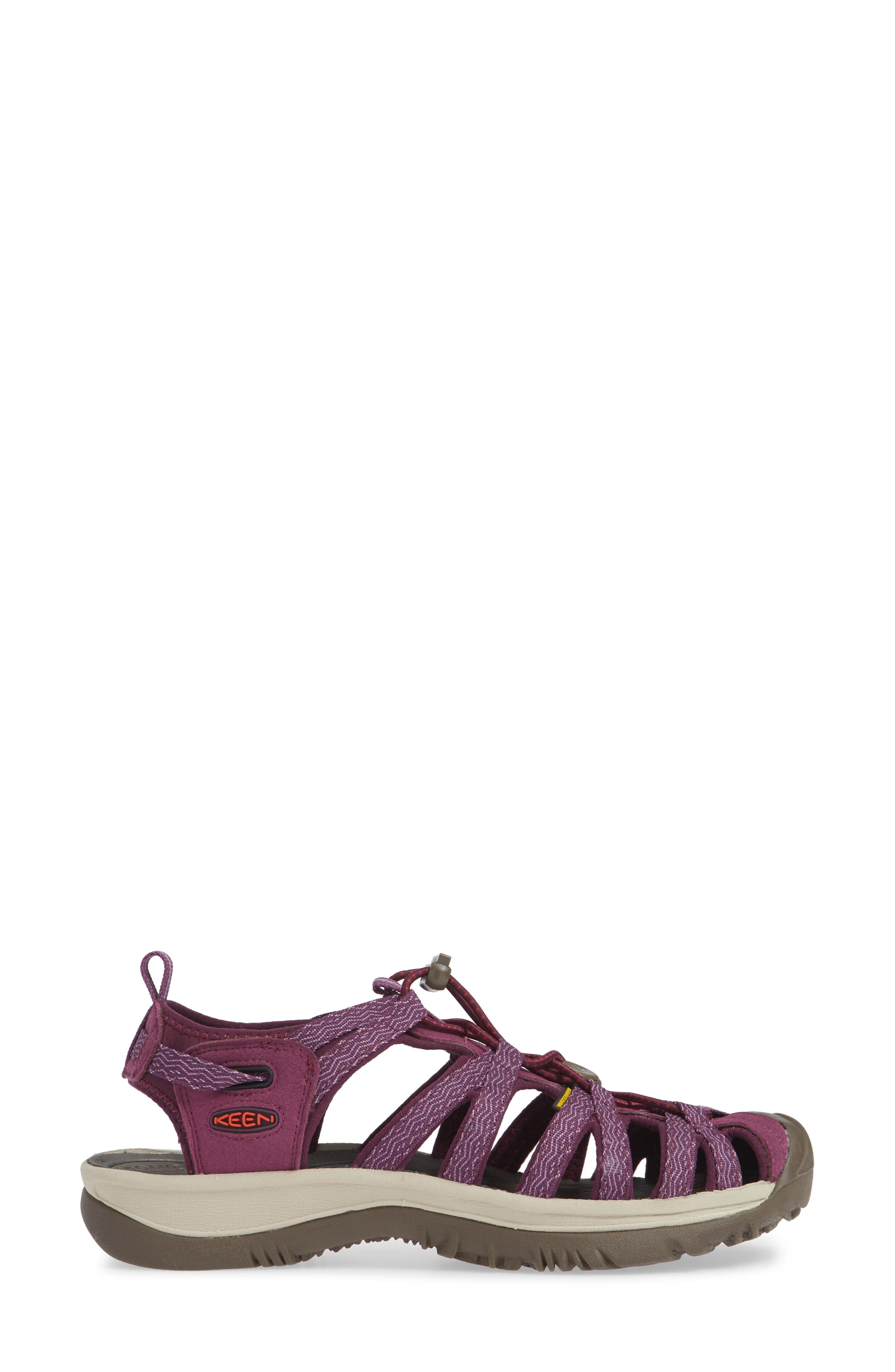 'Whisper' Water Friendly Sport Sandal,                             Alternate thumbnail 6, color,                             Grape Kiss/ Grape Wine
